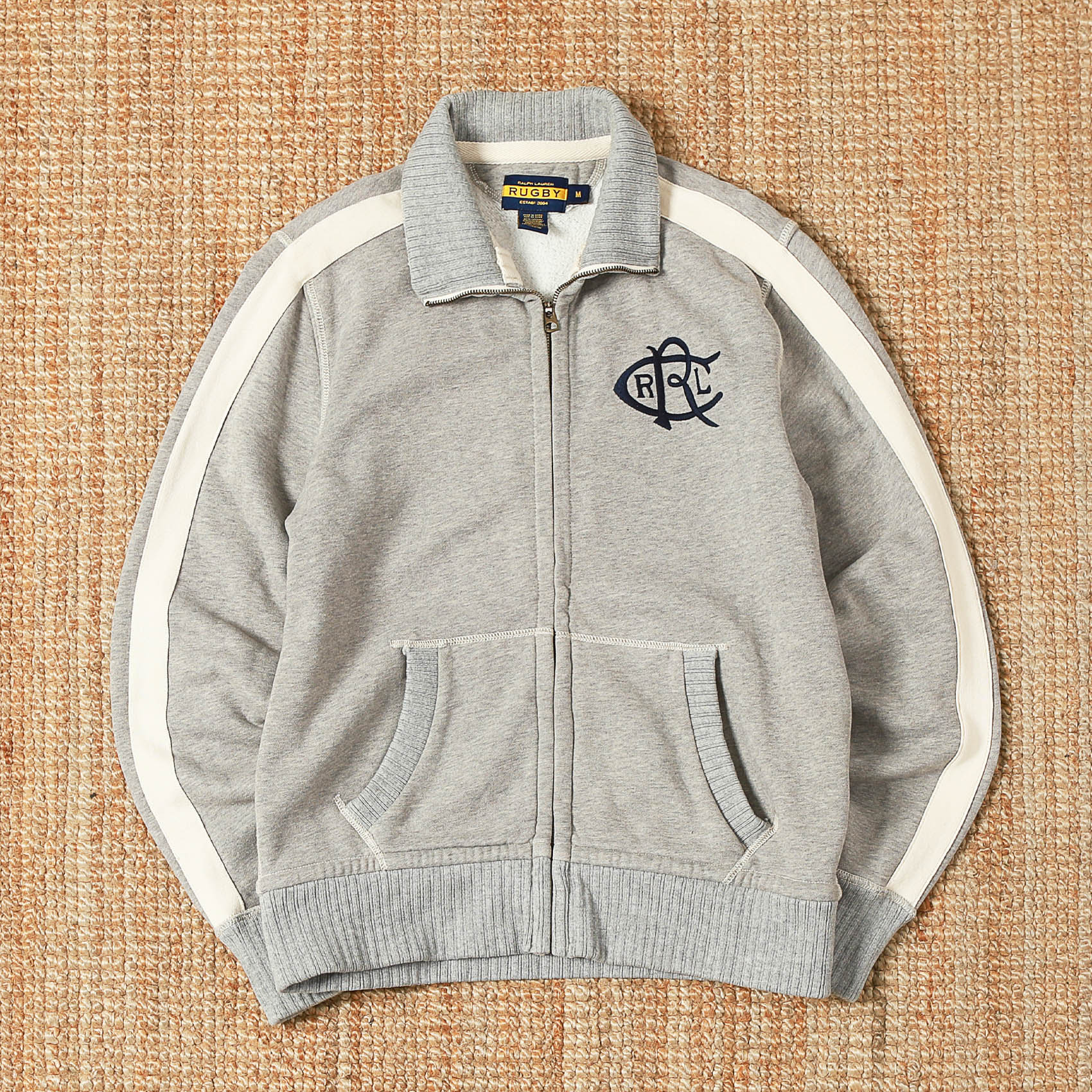 POLO RUGBY ZIP-UP SWEATER