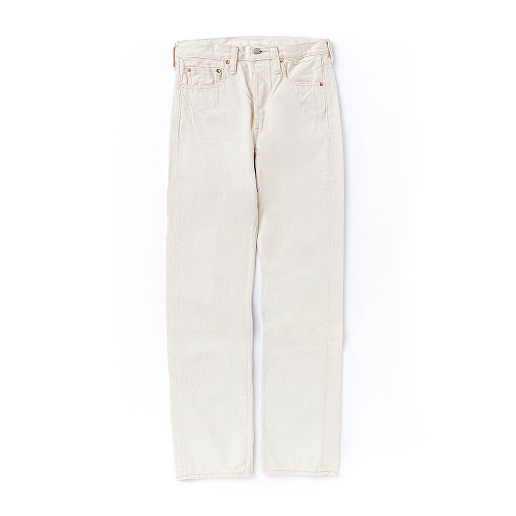 X COWORKERS EXCLUSIVE 1108 SLIM STRAIGHT - ECRU SELVEDGE