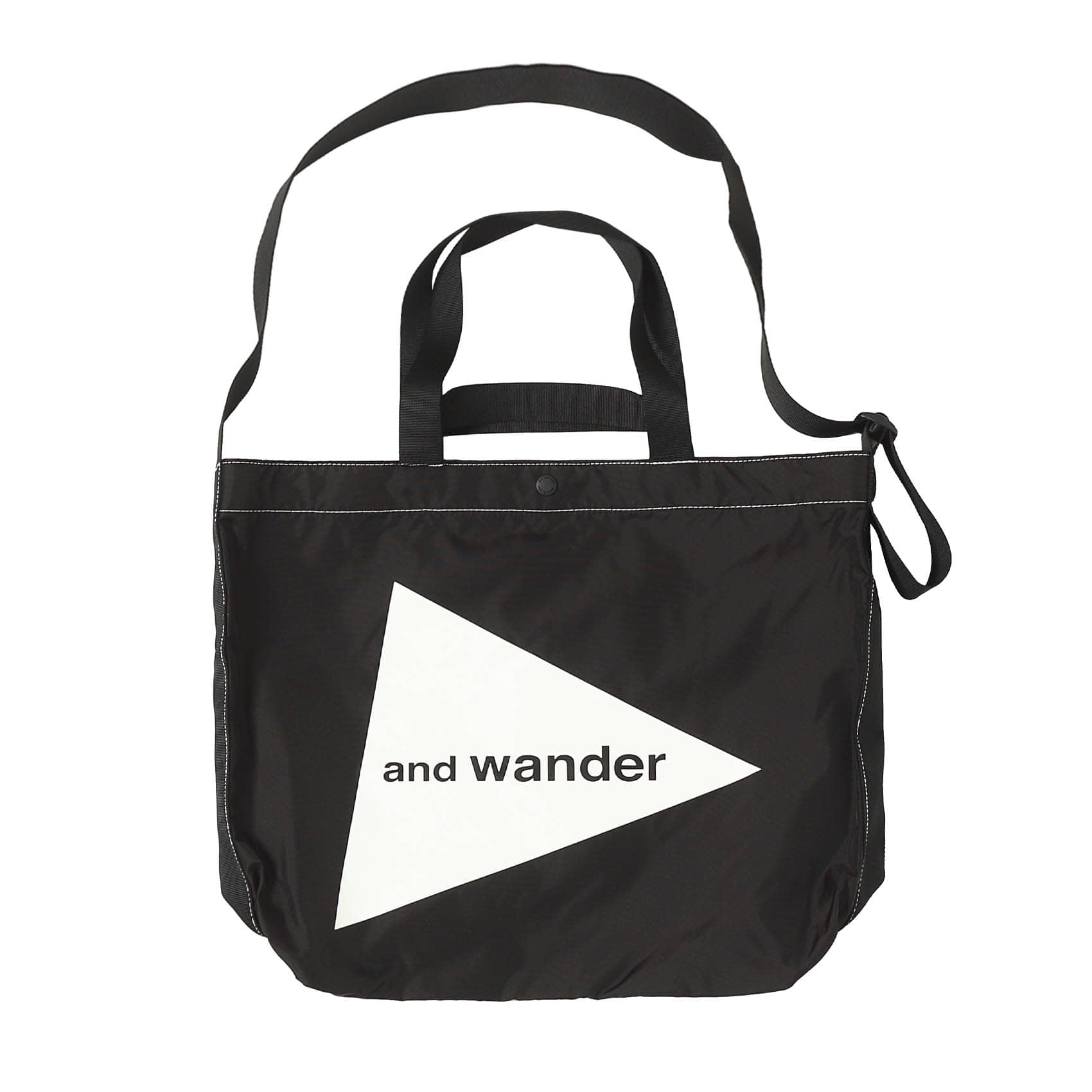 CORDURA BIG LOGO TOTE BAG - BLACK