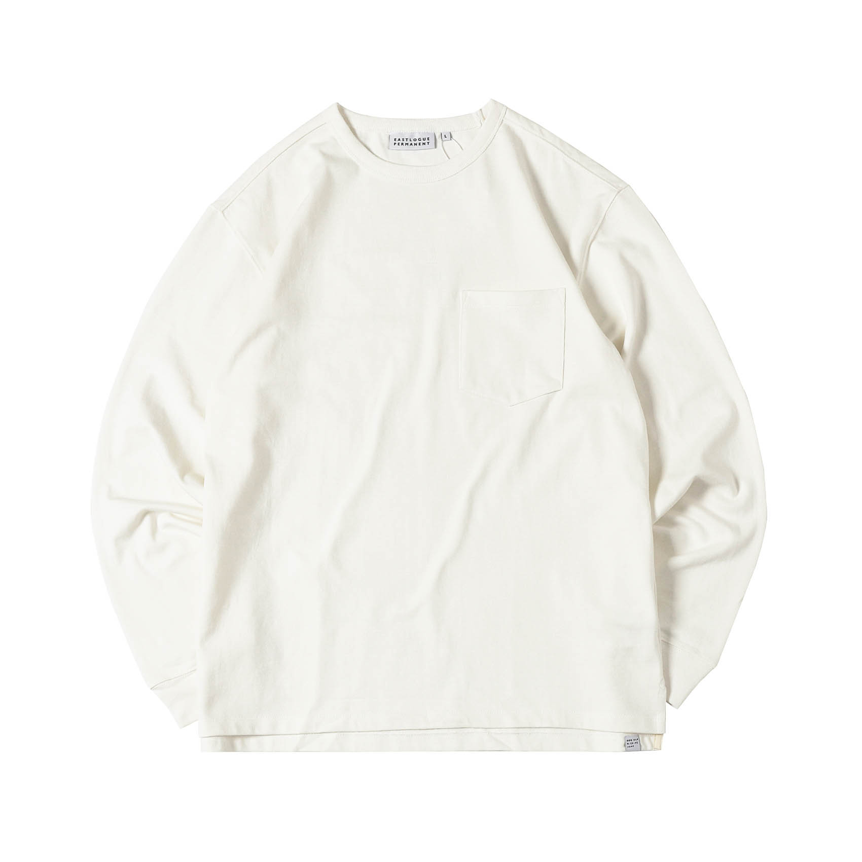 ONE POCKET L/S T-SHIRT - WHITE
