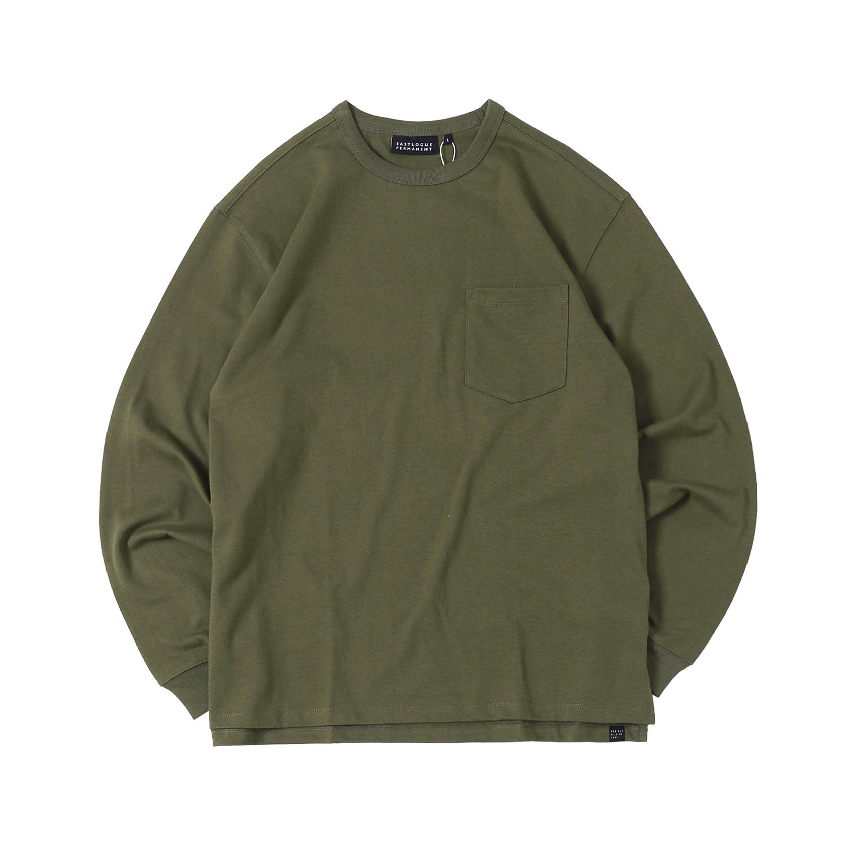 ONE POCKET L/S T-SHIRT - OLIVE