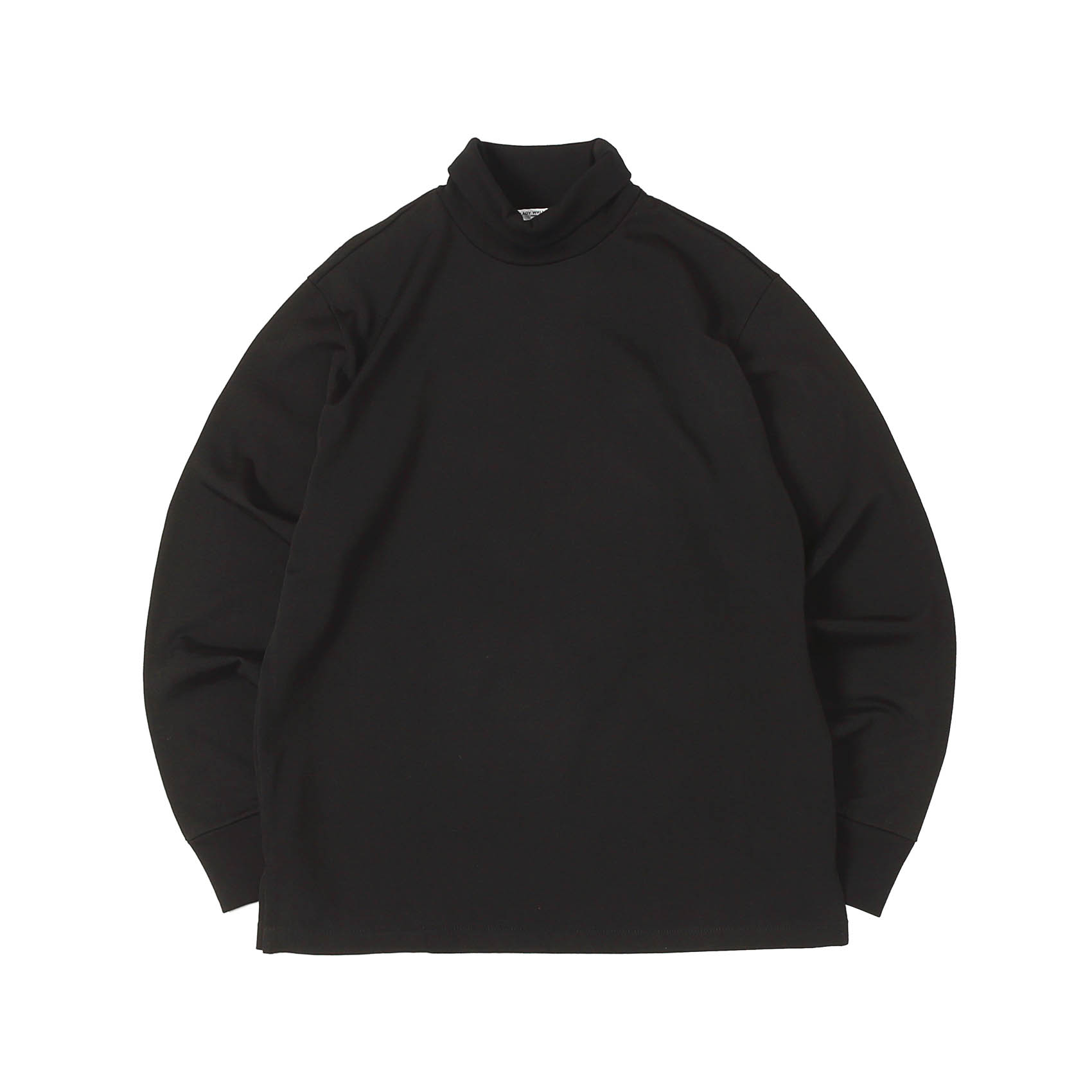 L/S NYLON TURTLENECK - BLACK