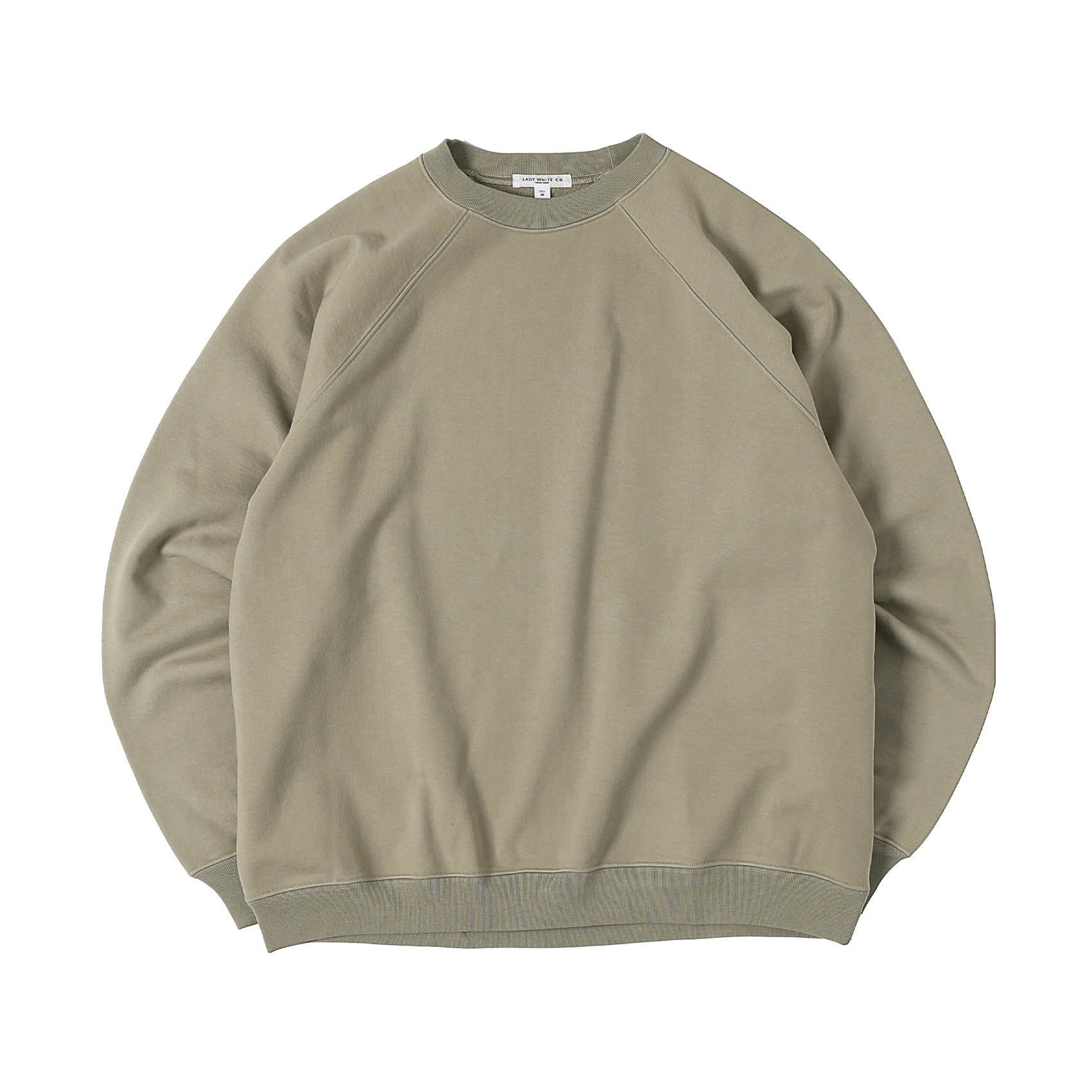 HEAVY WEIGHTED RAGLAN SWEATSHIRT - TAUPE FOG