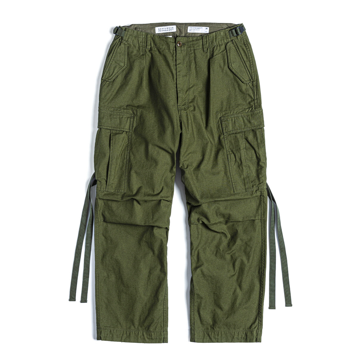 FIELD PANTS WIDE FIT - OLIVE BACK SATIN