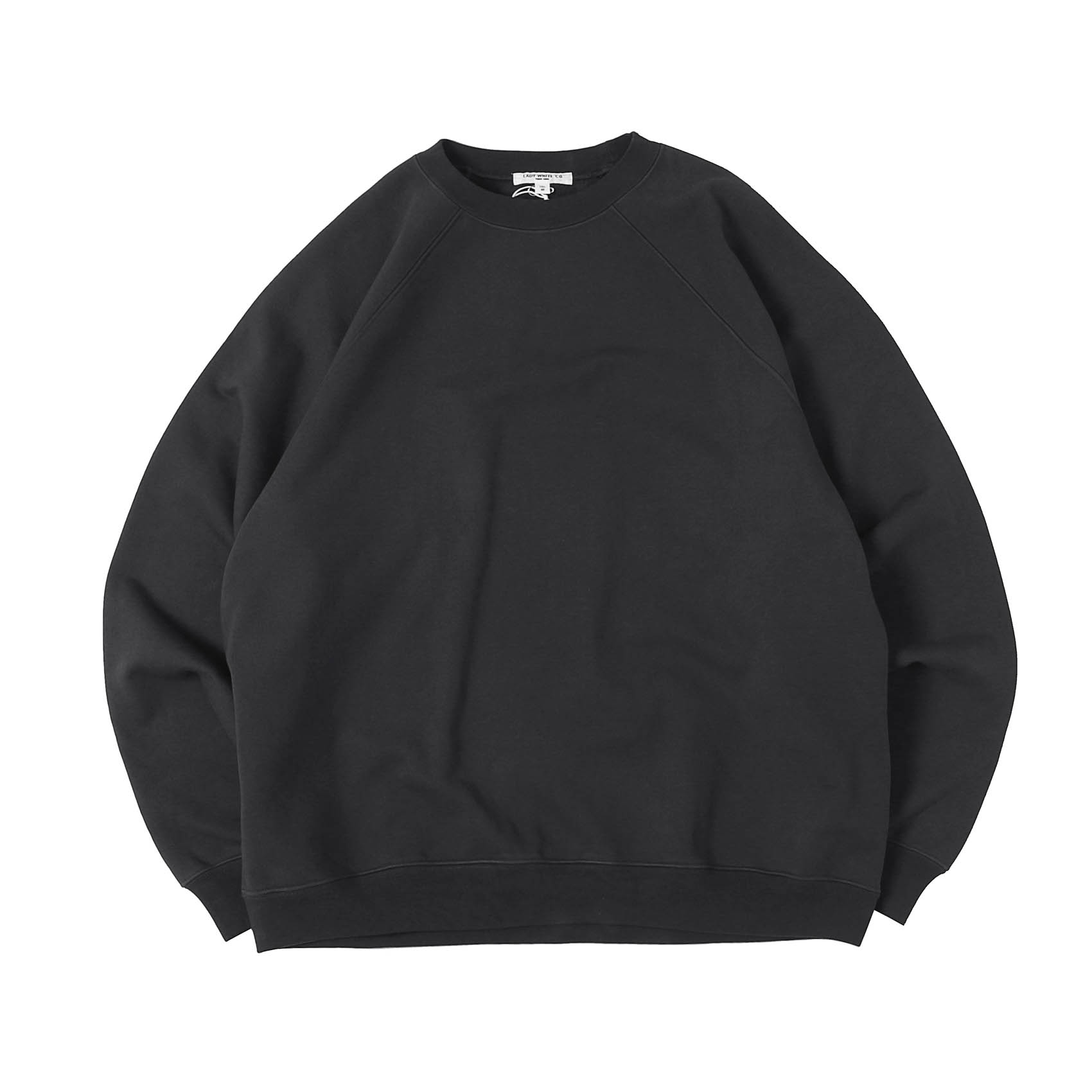 HEAVY WEIGHTED RAGLAN SWEATSHIRT - TIRE BLACK