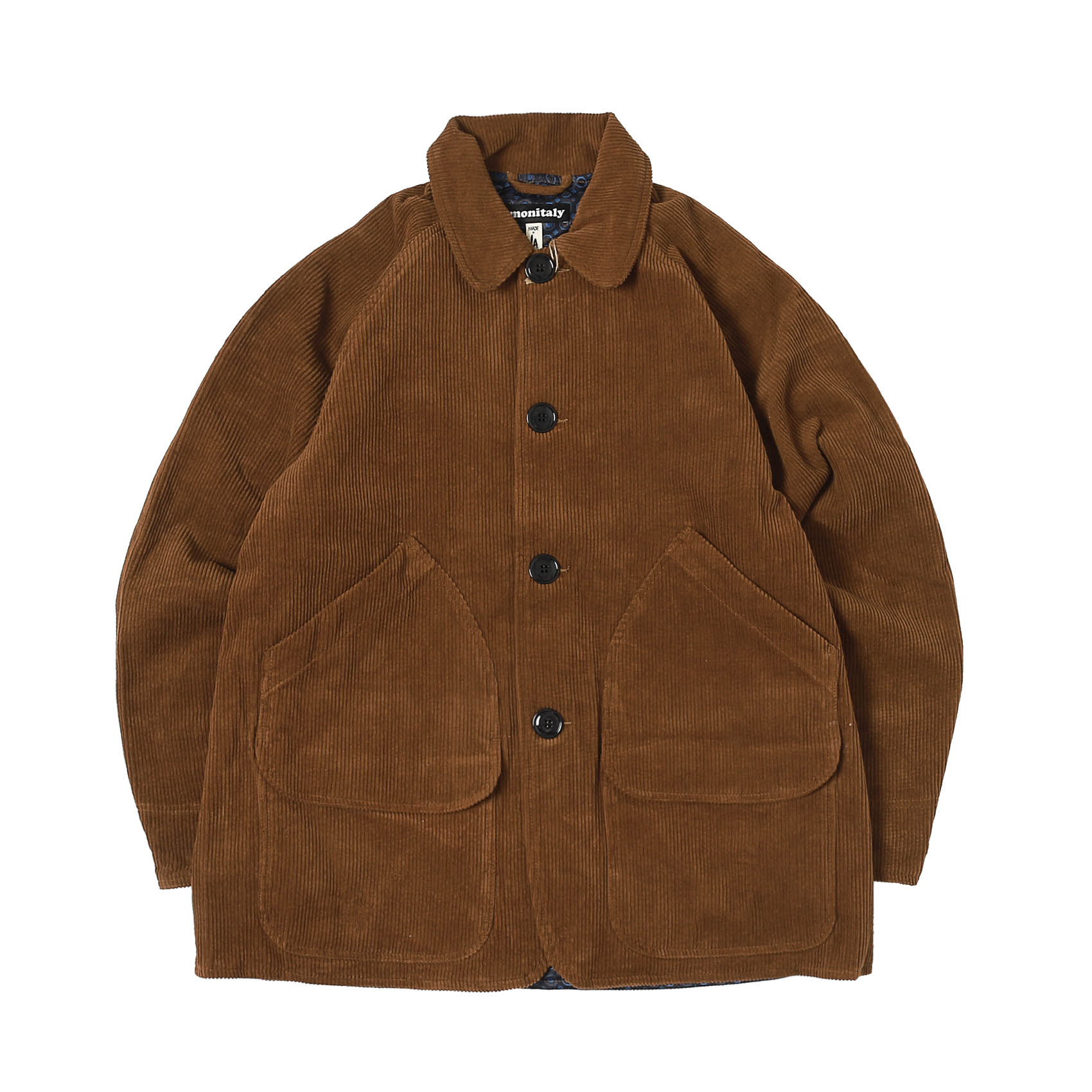 CORDUROY FARMER'S JACKET - CHESTNUT