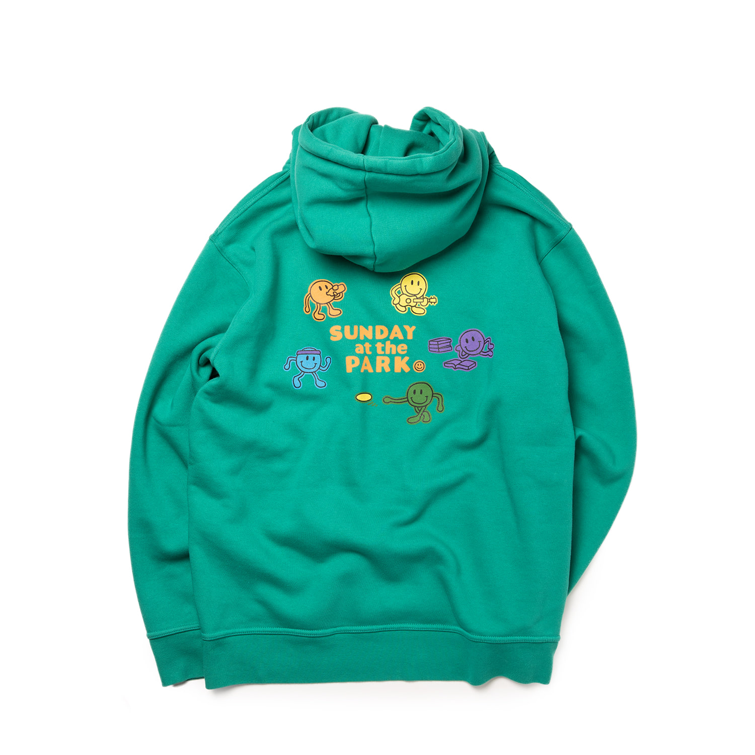 SUNDAY AT THE PARK HOODIE - EMERALD GREEN