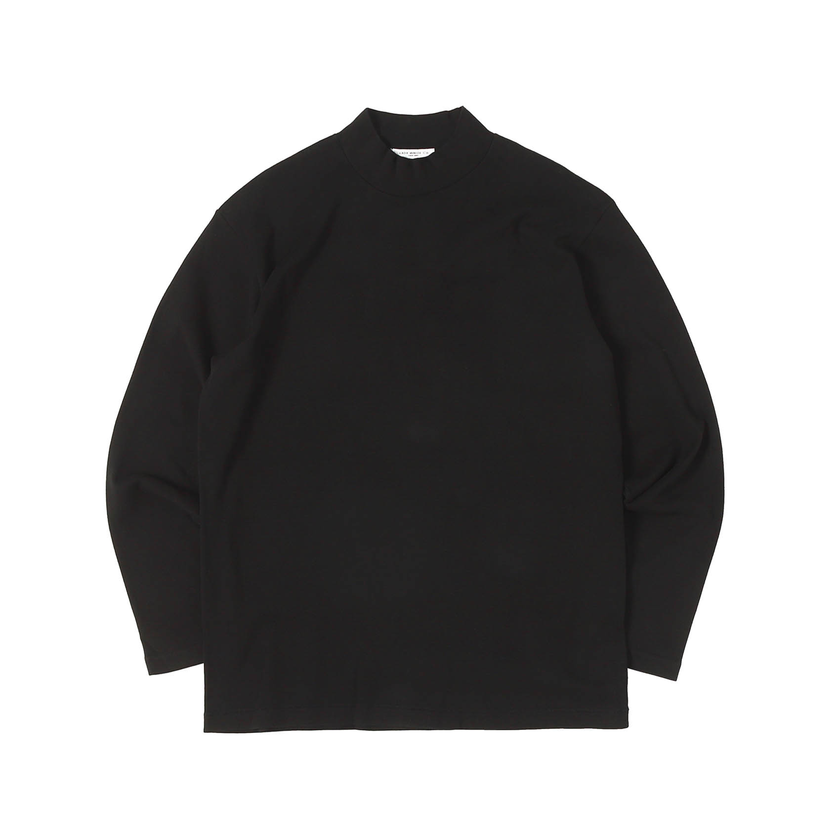 L/S MOCK NECK - BLACK