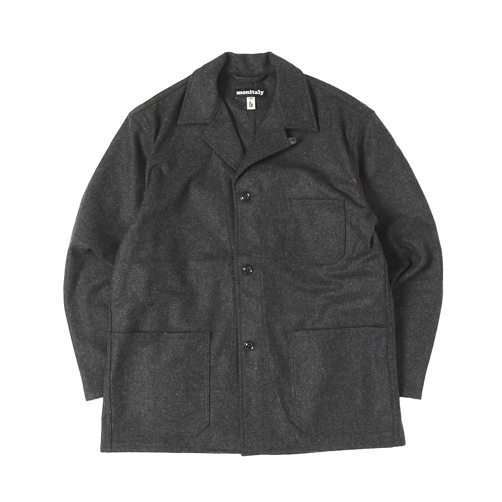 WOOL ITALIAN JAIL JACKET - CHARCOAL