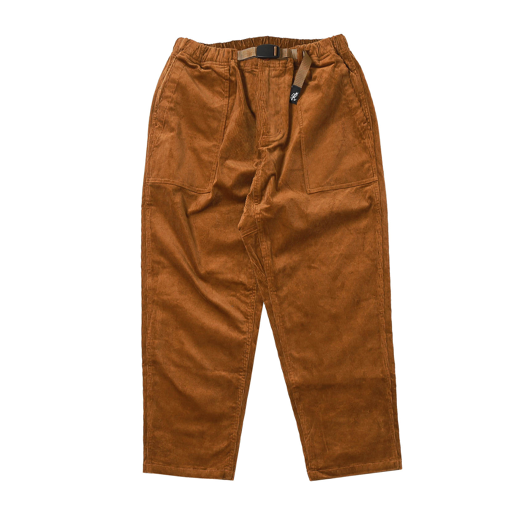 CORDUROY LOOSE TAPERED PANTS - CAMEL