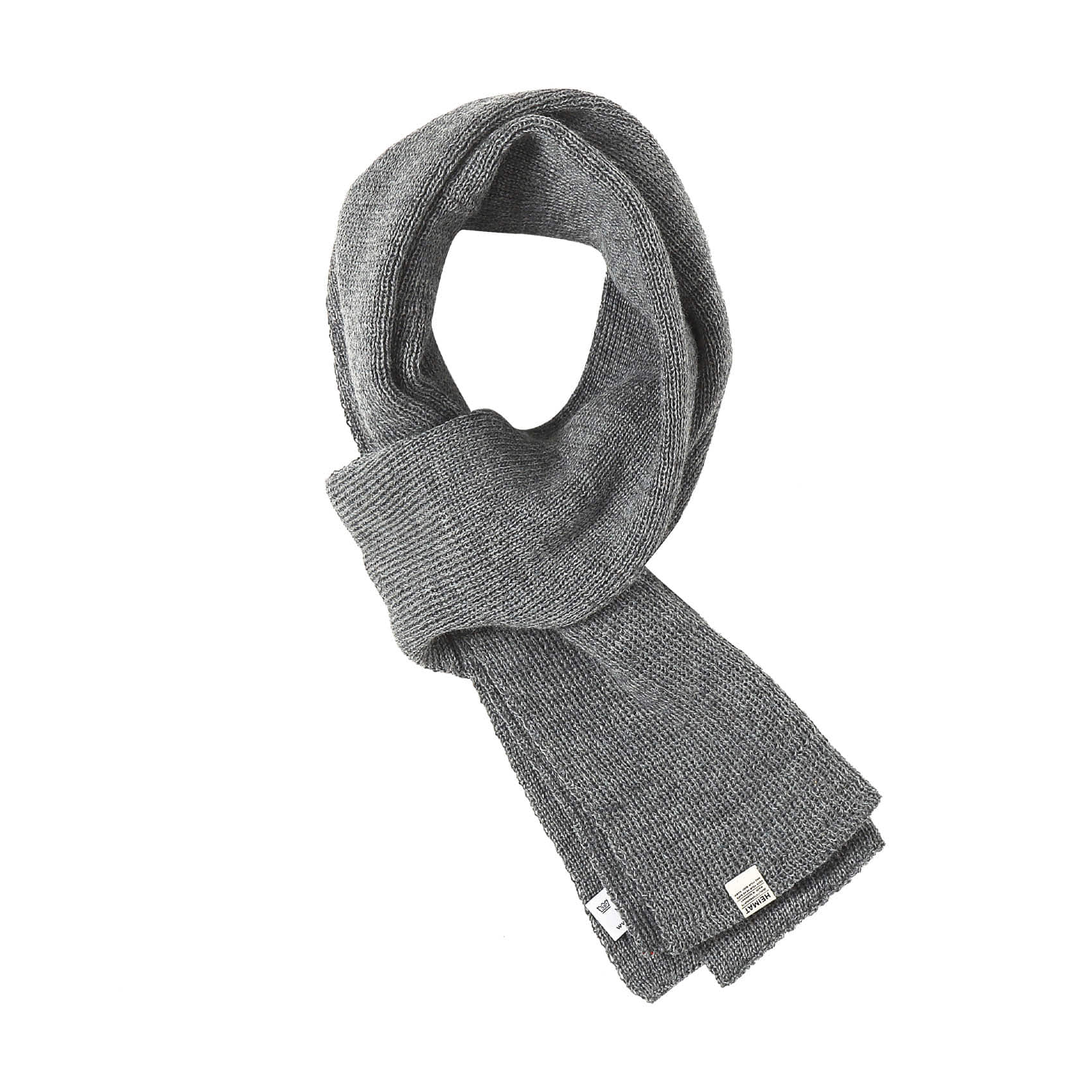 WOOL SCARF - GREY