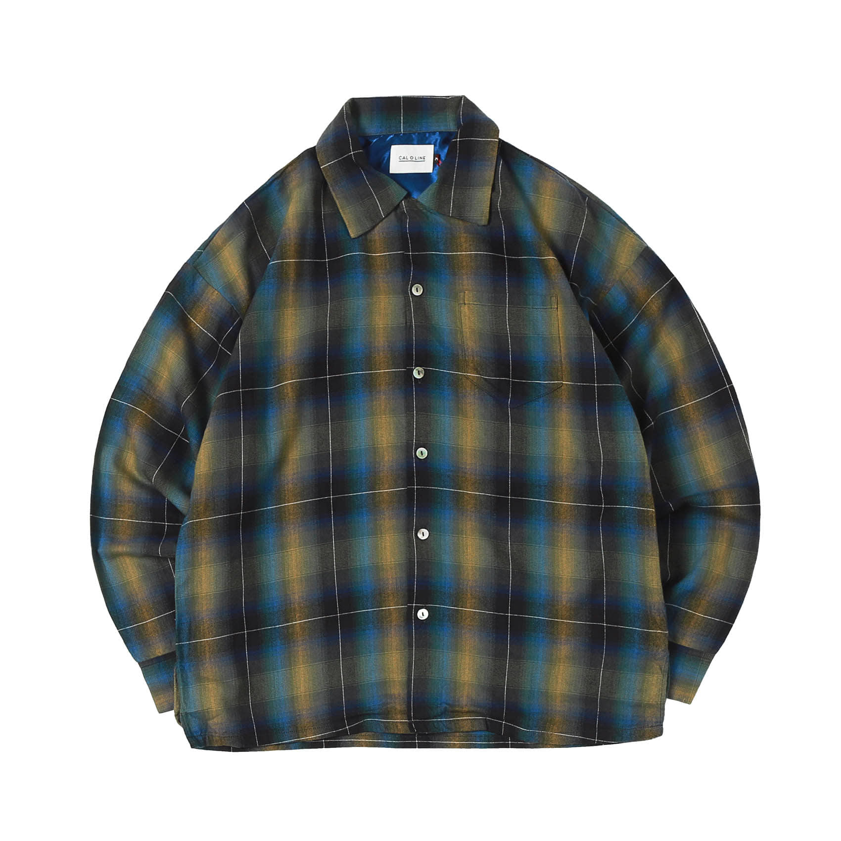 PLAID OMBRE SHIRTS - YELLOW