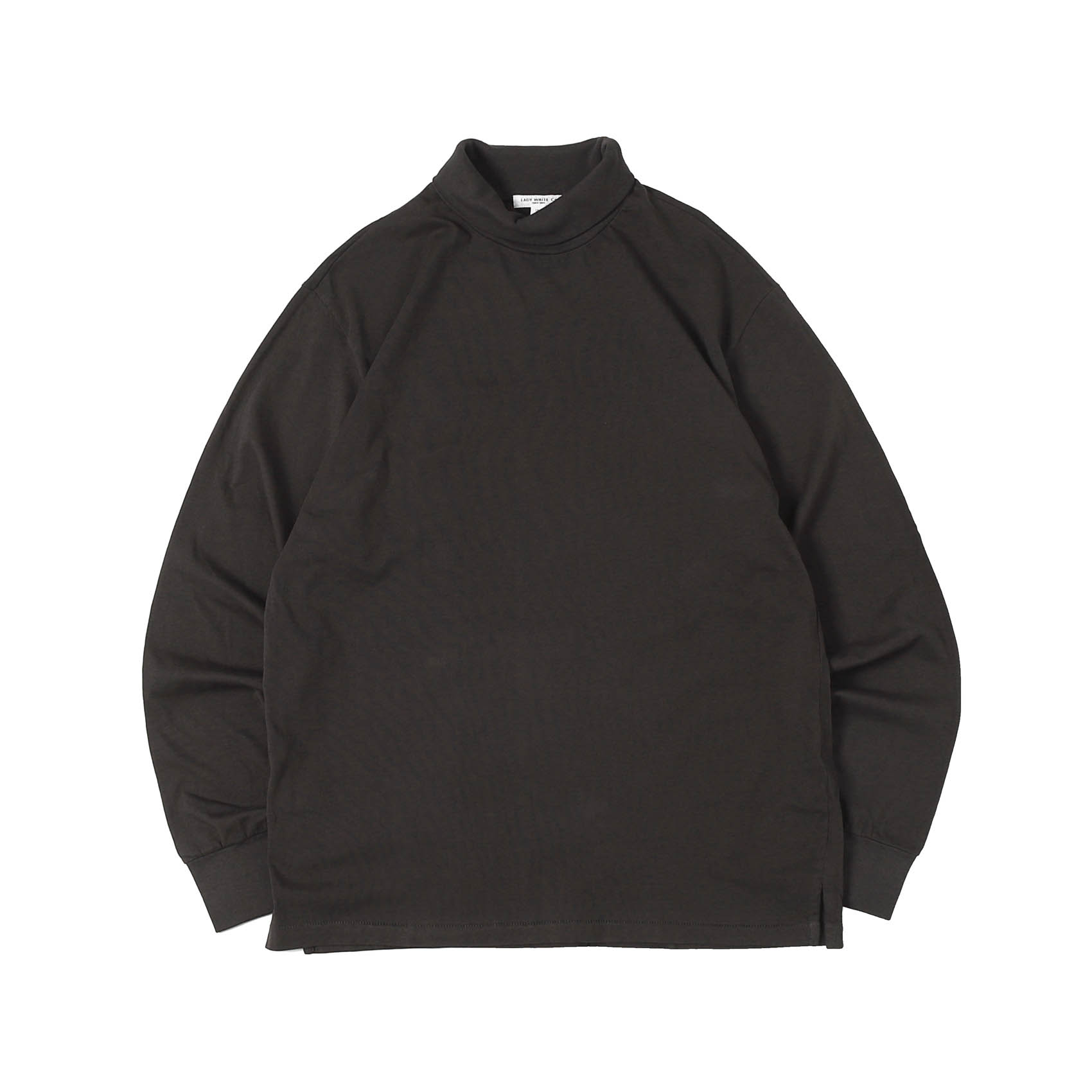 L/S TURTLENECK - TIRE BLACK