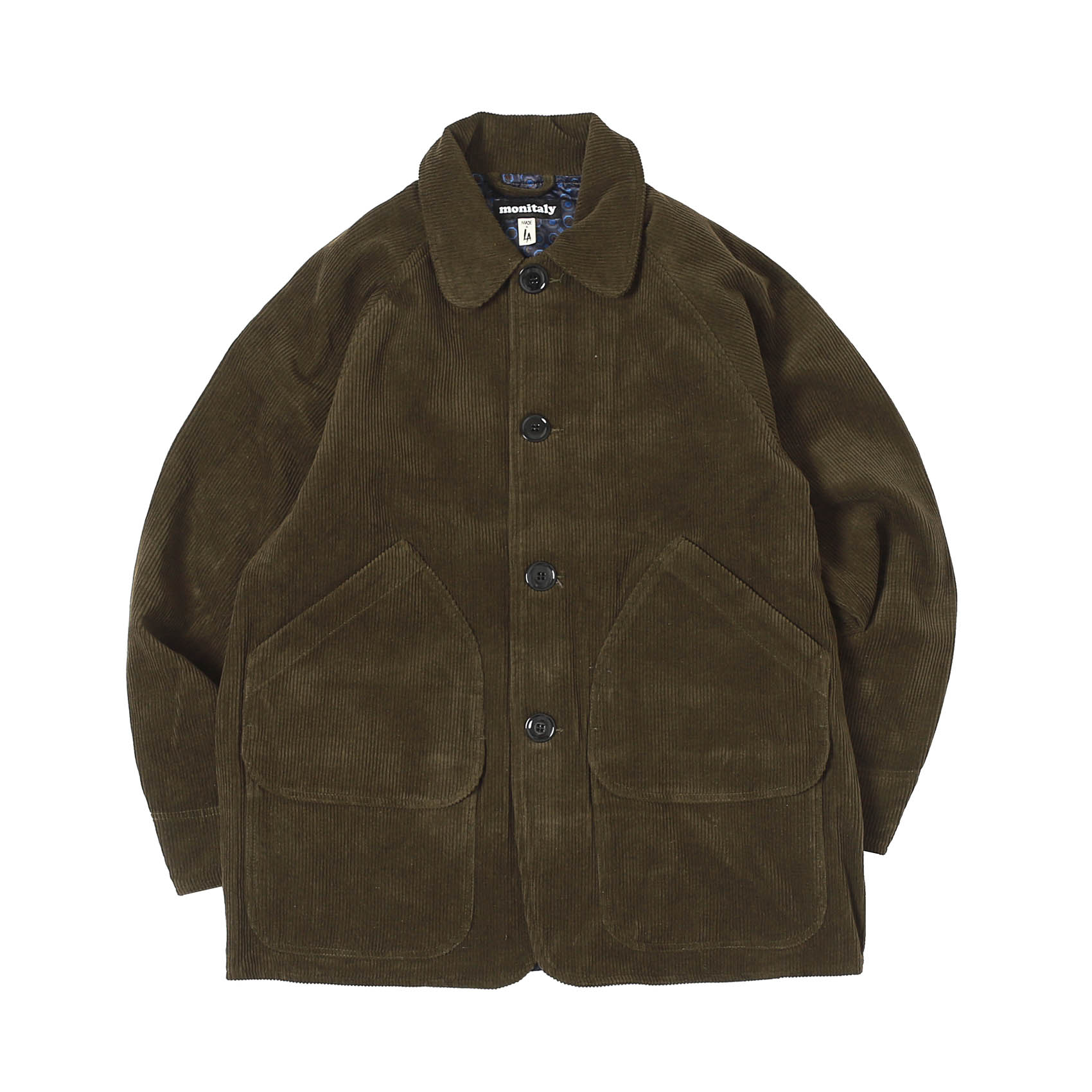 CORDUROY FARMER'S JACKET - BROWN