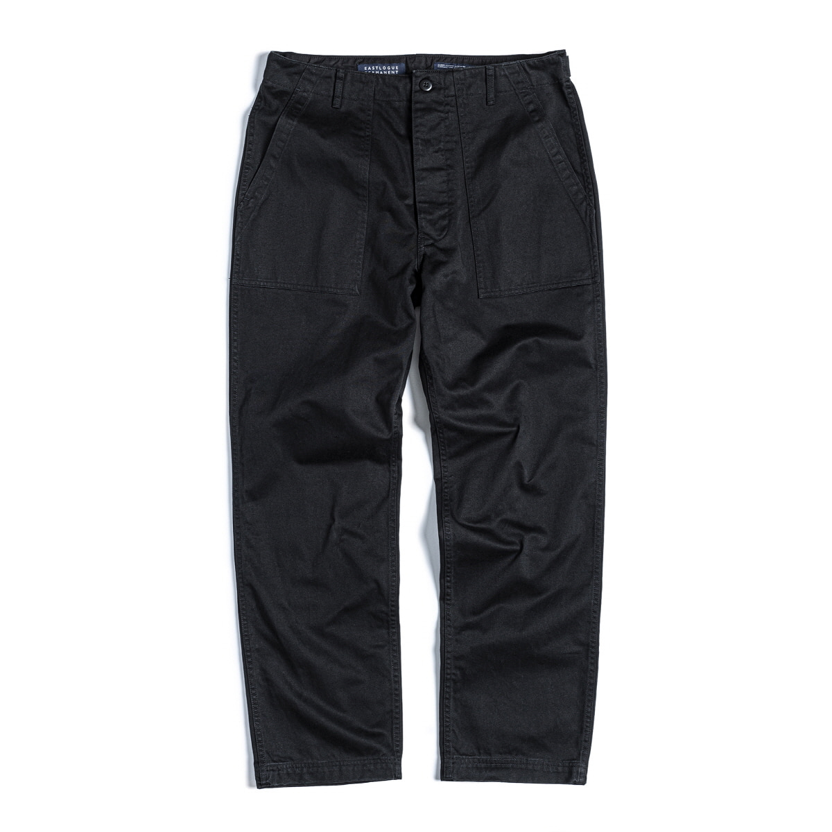 FATIGUE PANTS - BLACK BACK SATIN