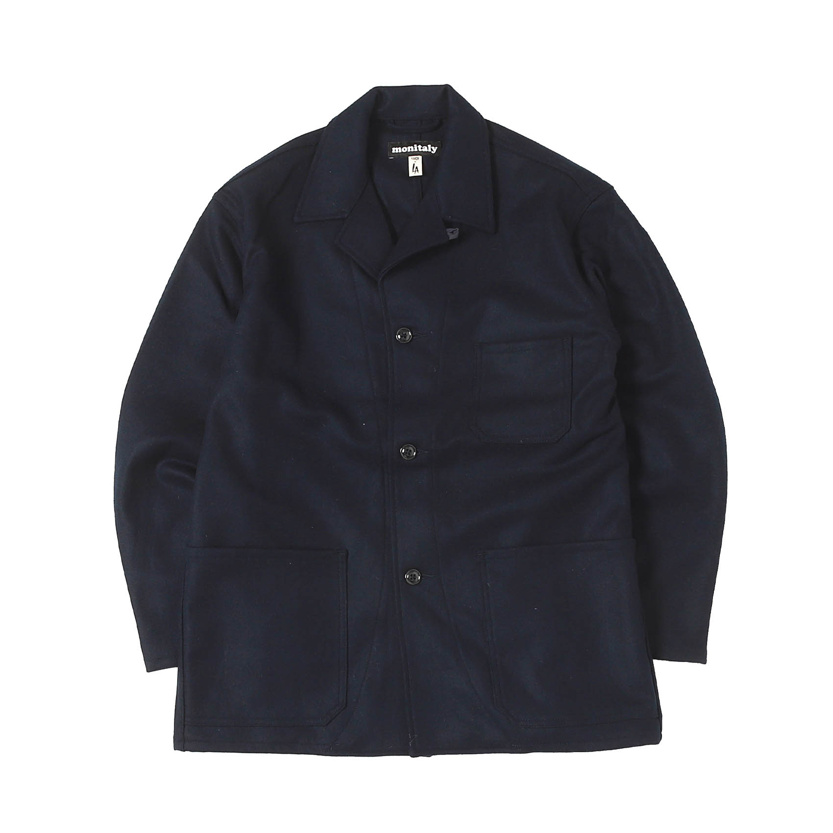 WOOL ITALIAN JAIL JACKET - NAVY