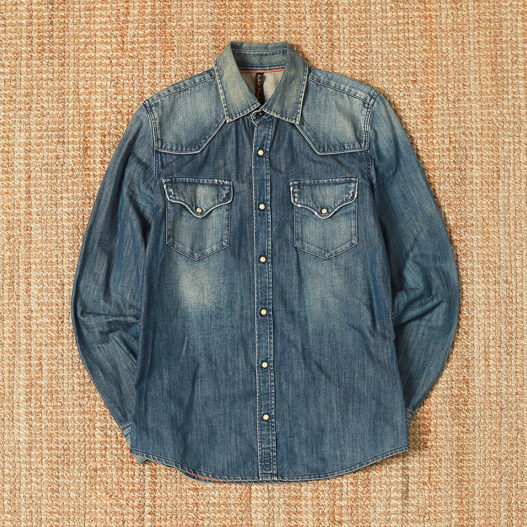 NUDIE JEAN BUTTON DOWN DENIM SHIRTS