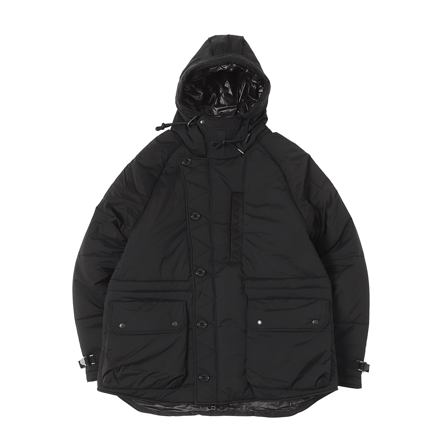 MIDDLE LAYER PARKA - BLACK NYLON