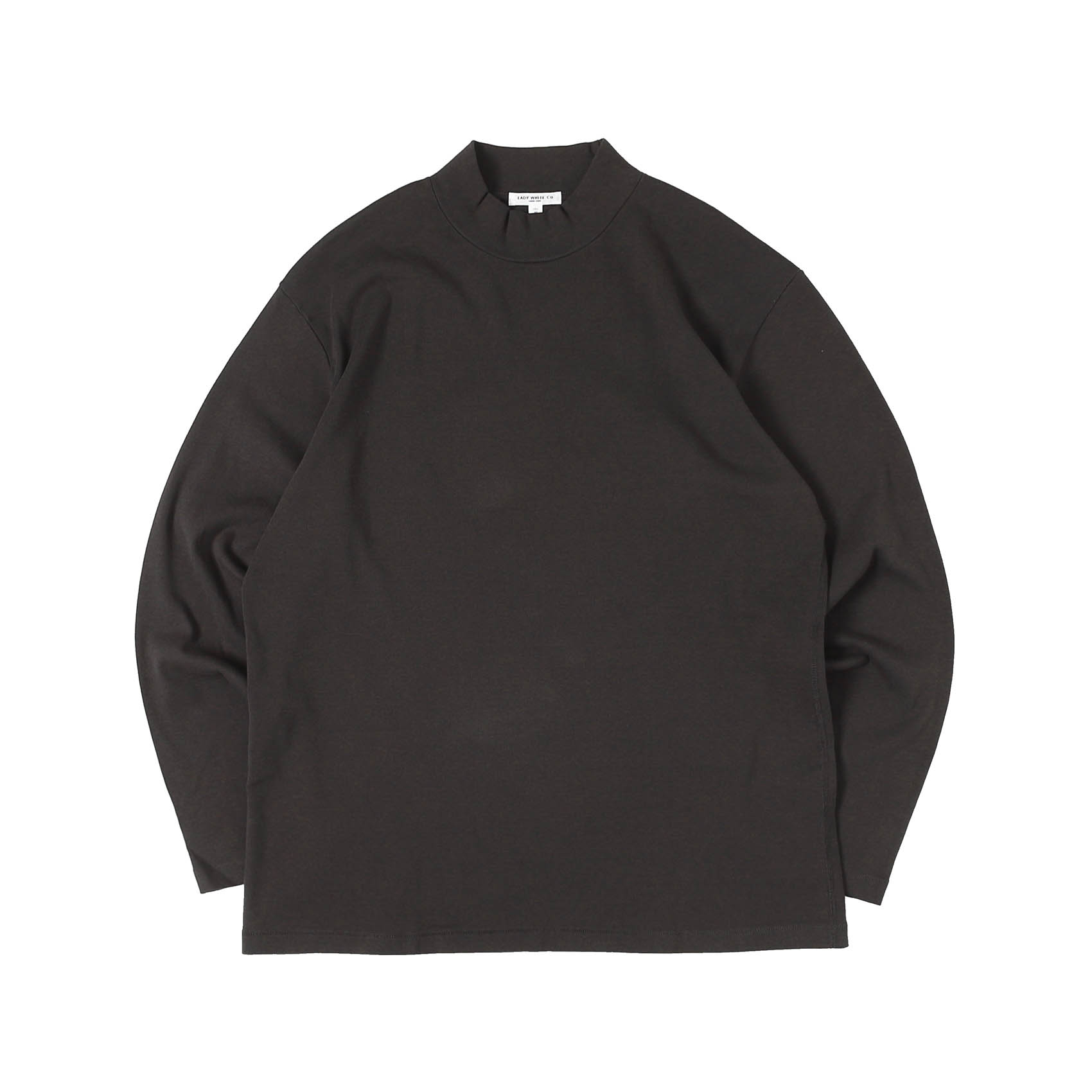 L/S MOCK NECK - TIRE BLACK