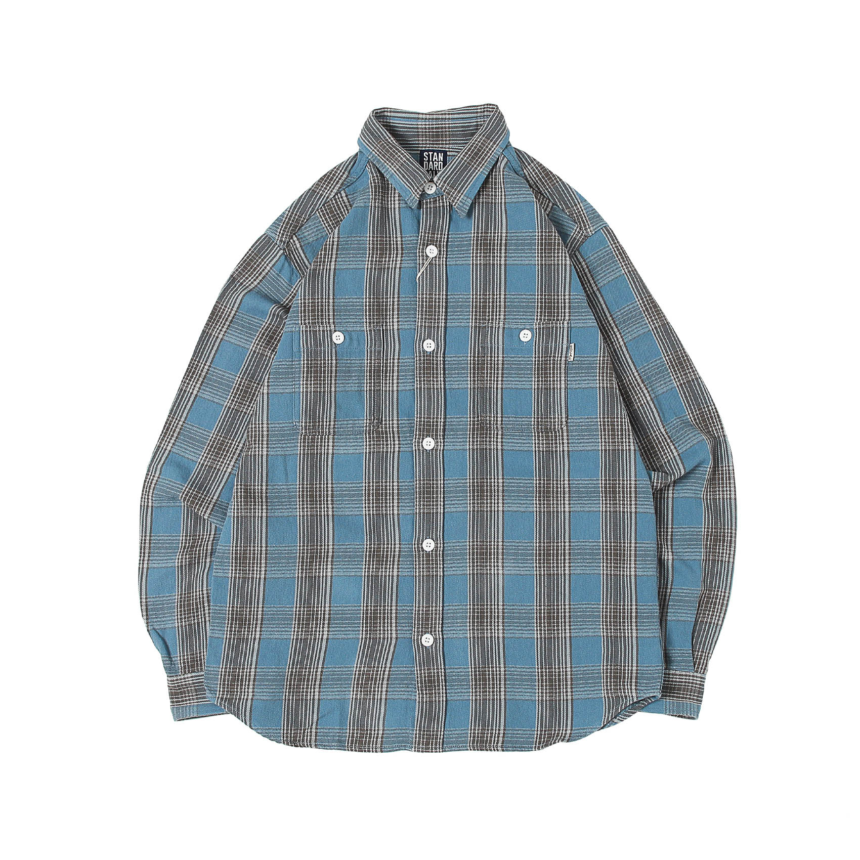 FLANNEL CHECK SHIRT - BLUE