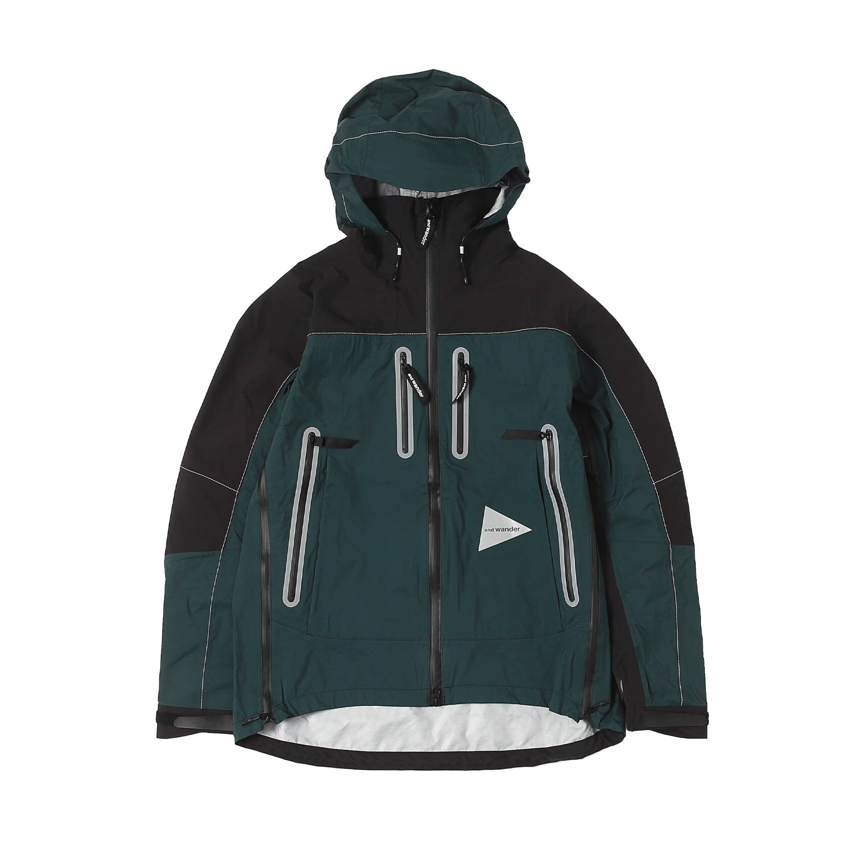 EVENT RAIN JACKET - BLACK/GREEN