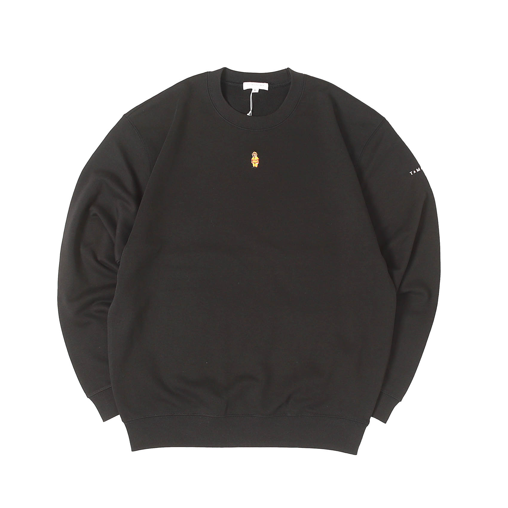 BEAR TRAINER SWEATSHIRTS - BLACK