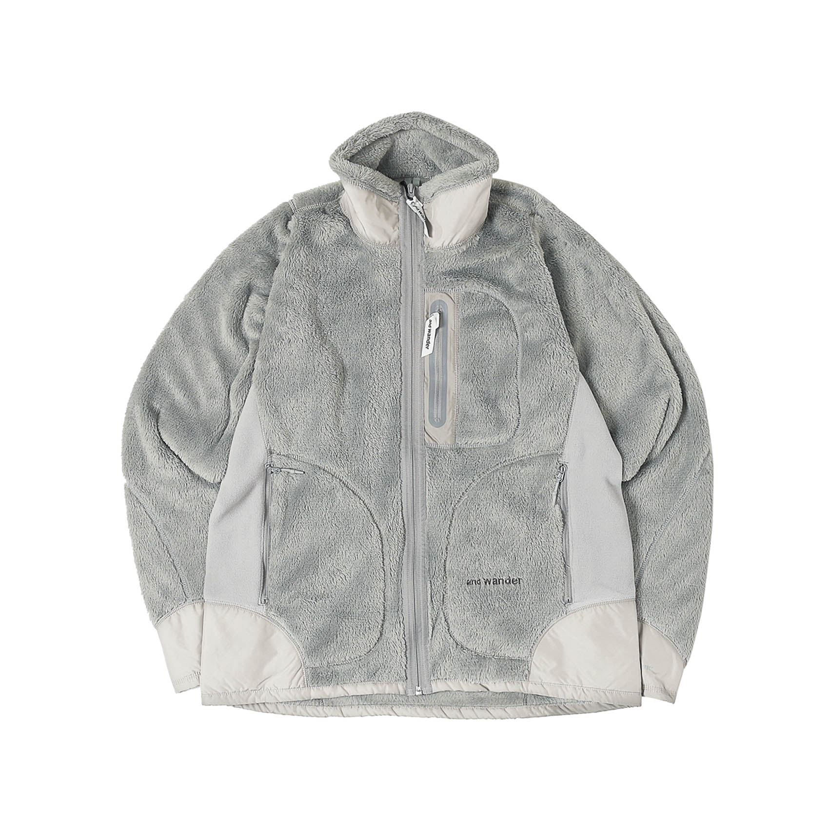 HIGH LOFT FLEECE JACKET - GREY