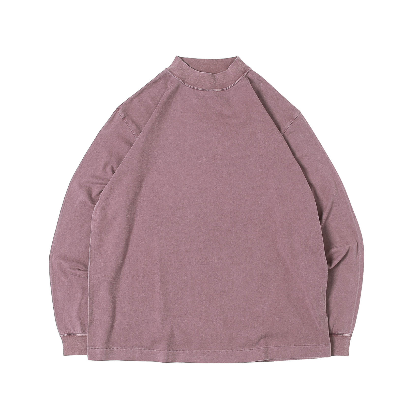 L/S MOCK NECK TEE - PURPLE