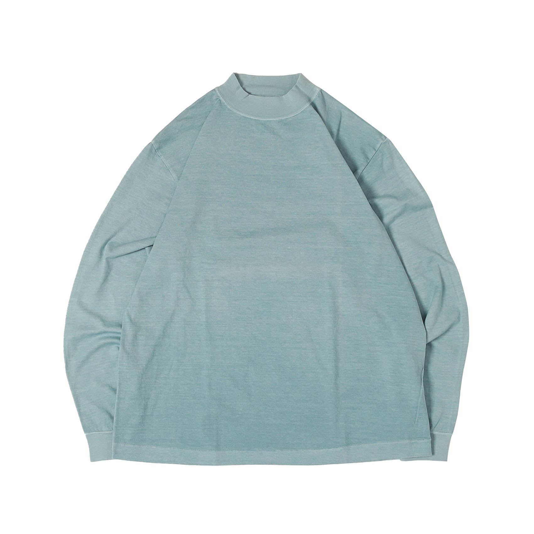 L/S MOCK NECK TEE - BLUE