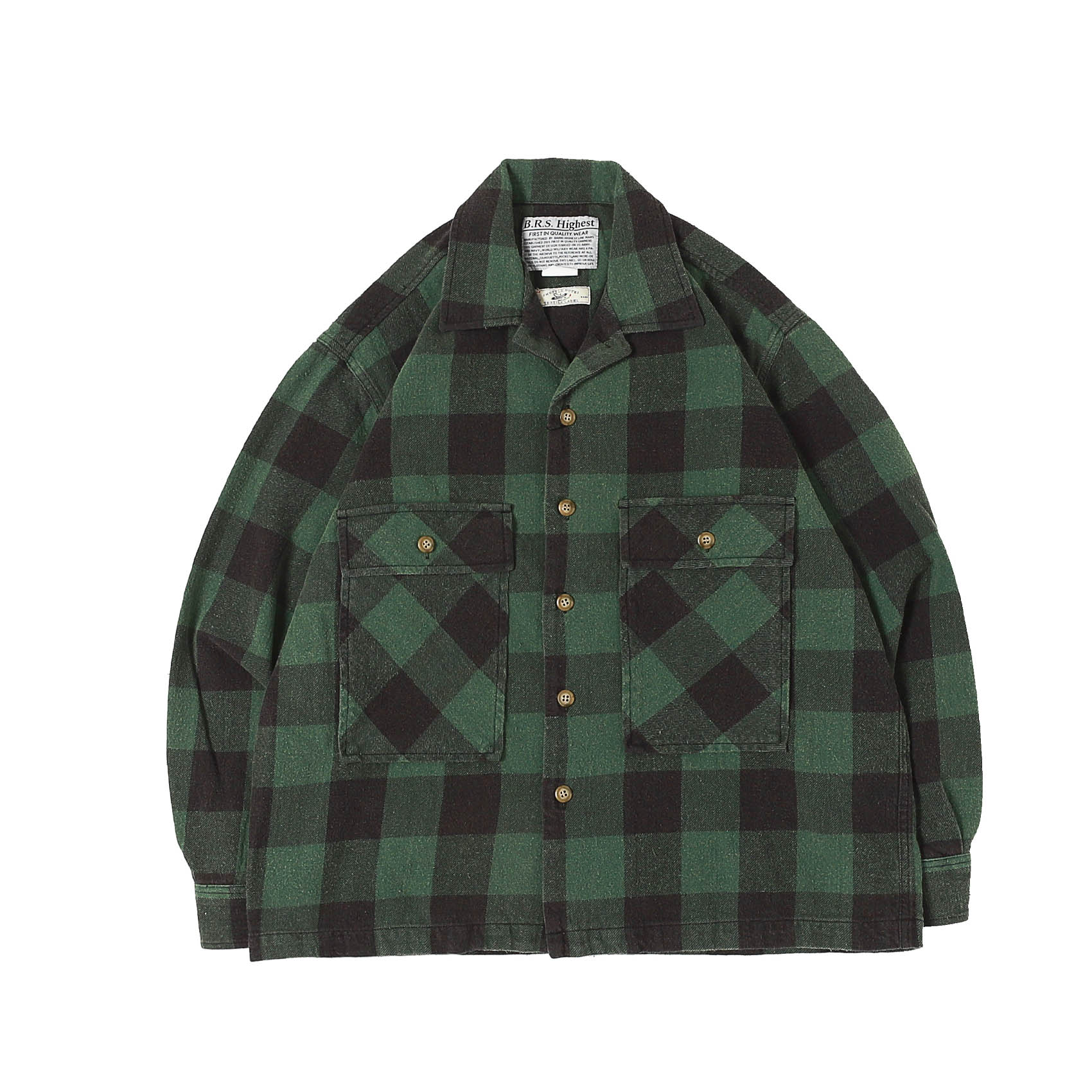 HIGHEST COTTON FLANNEL SHIRTS - GREEN