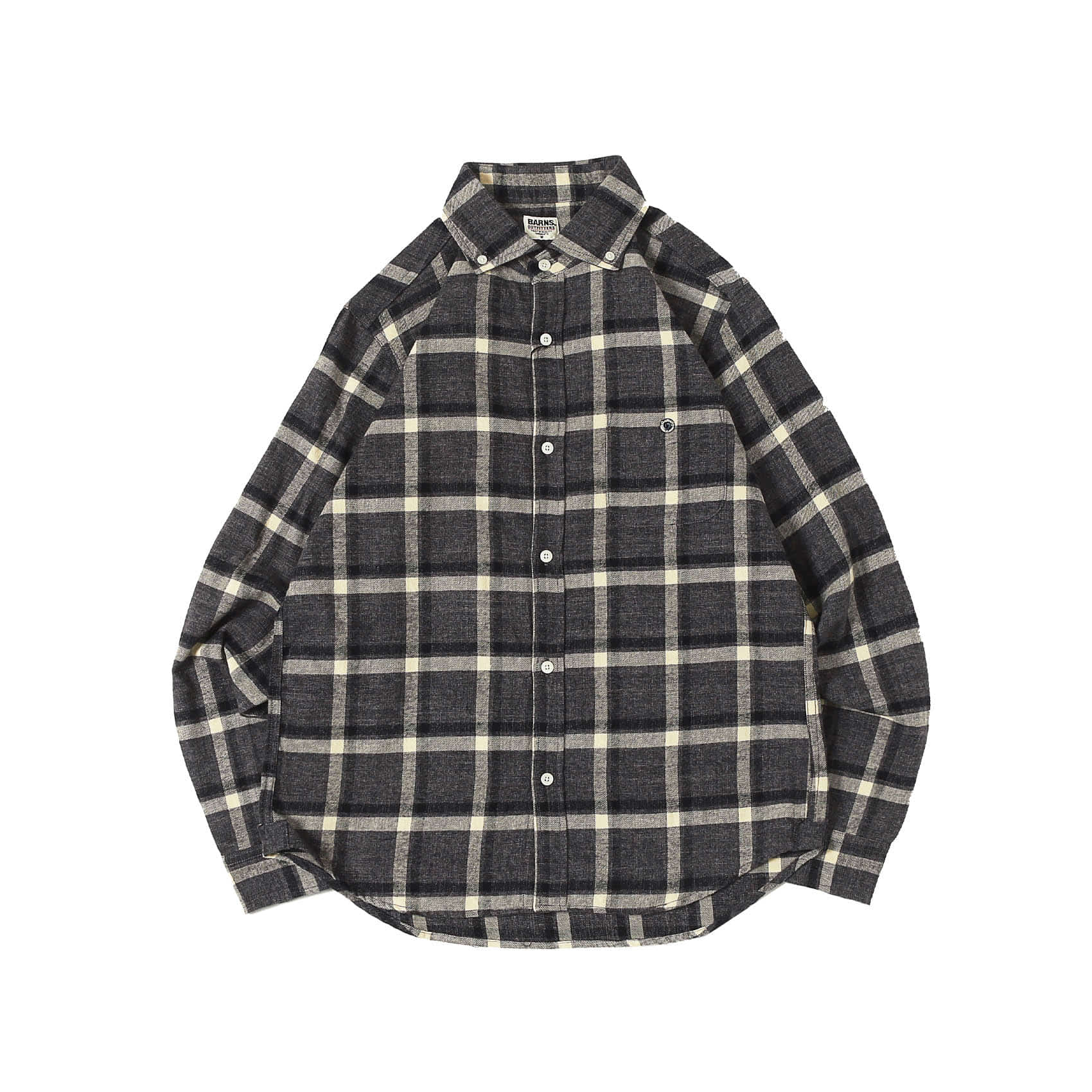 L/S CHECK BUTTON DOWN SHIRT - GREY (BR8526)