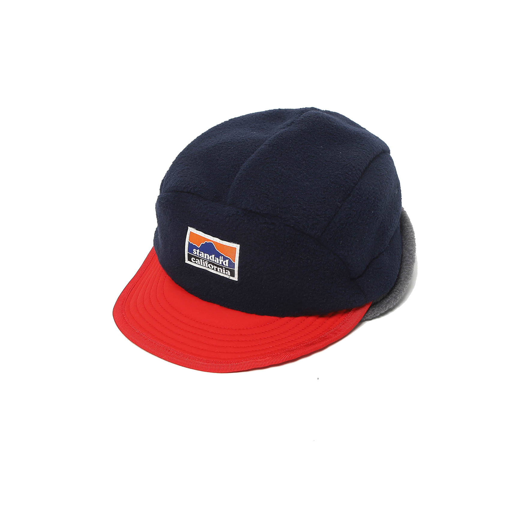 EAR FLAP FLEECE CAP - NAVY