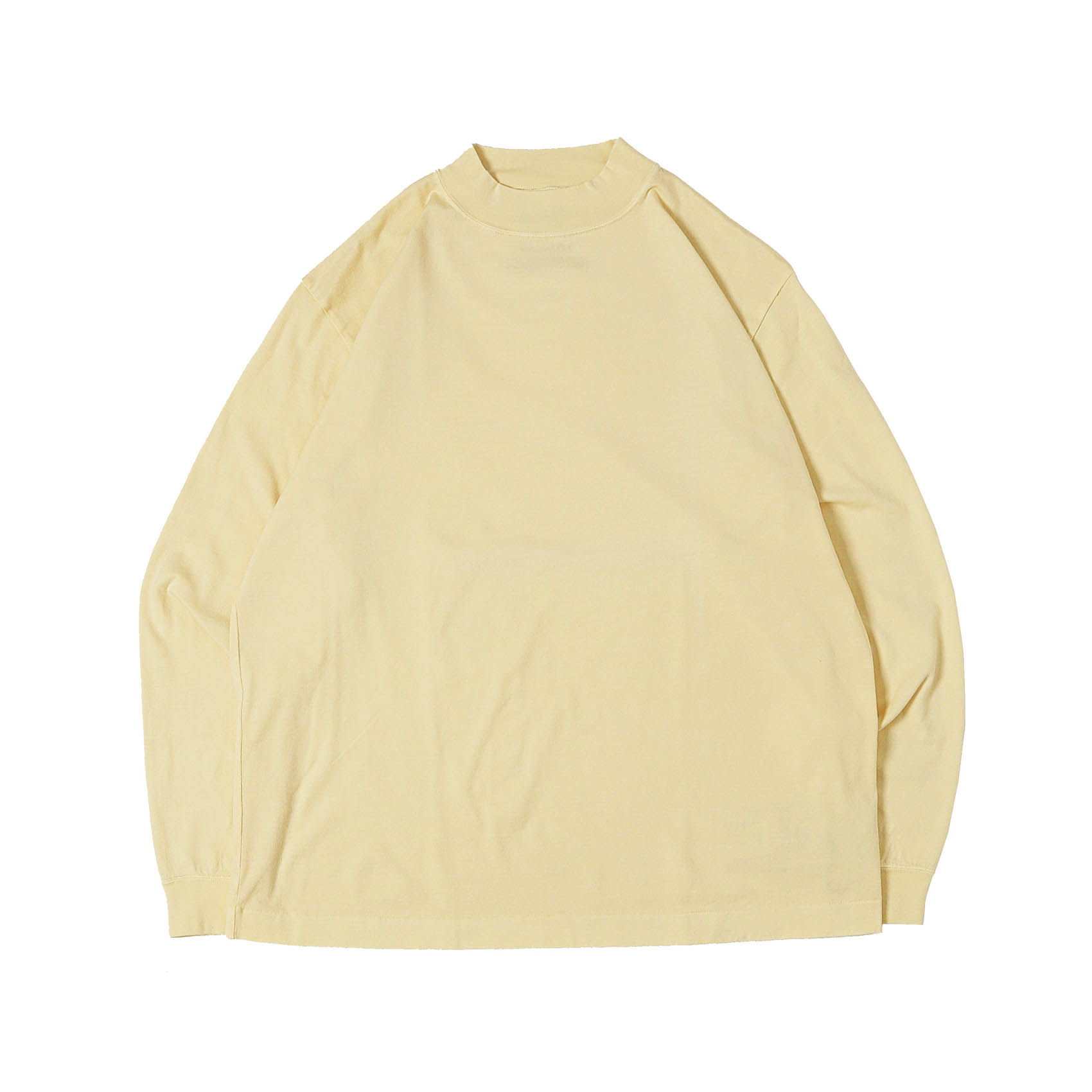 L/S MOCK NECK TEE - YELLOW