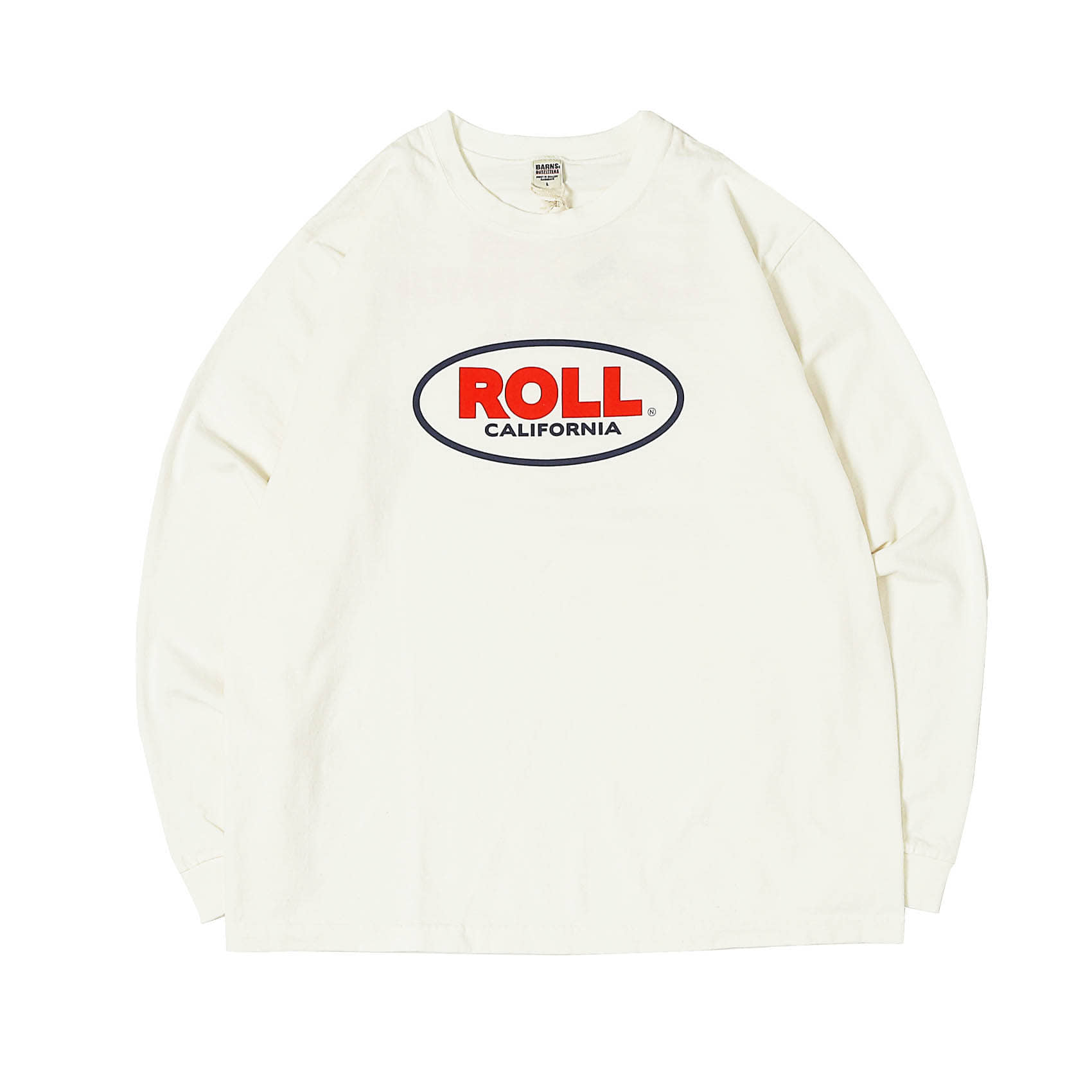 L/S PRINTED TEE - ROLL WHITE