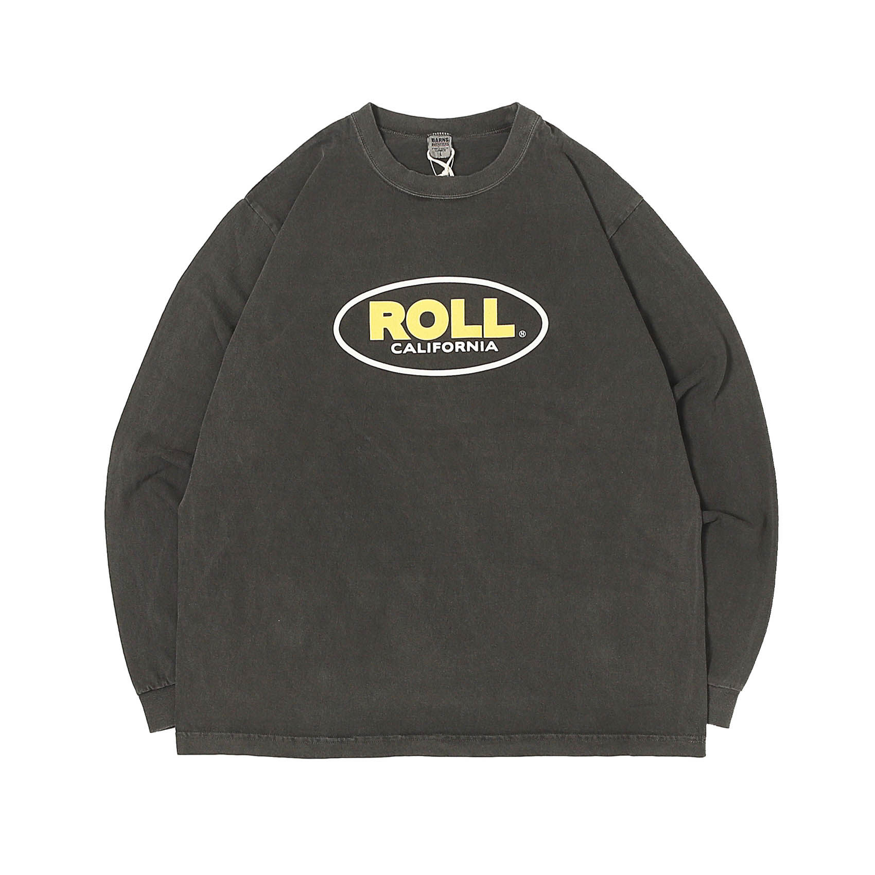 L/S PRINTED TEE - ROLL BLACK