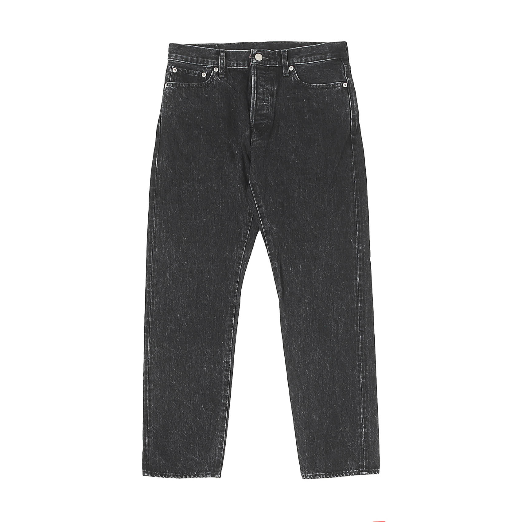 5 POCKET ROLL UP DENIM PANTS - BLACK USED