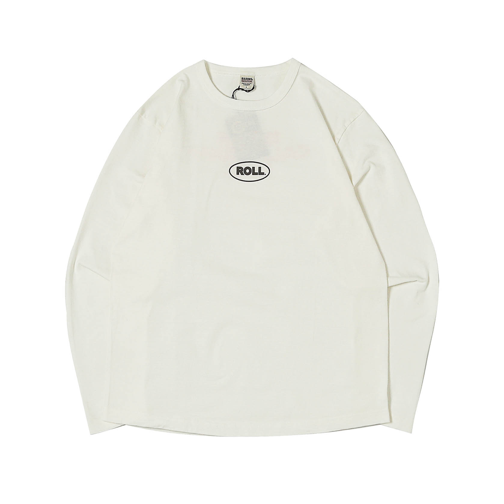 L/S PRINTED TEE - MINI ROLL WHITE