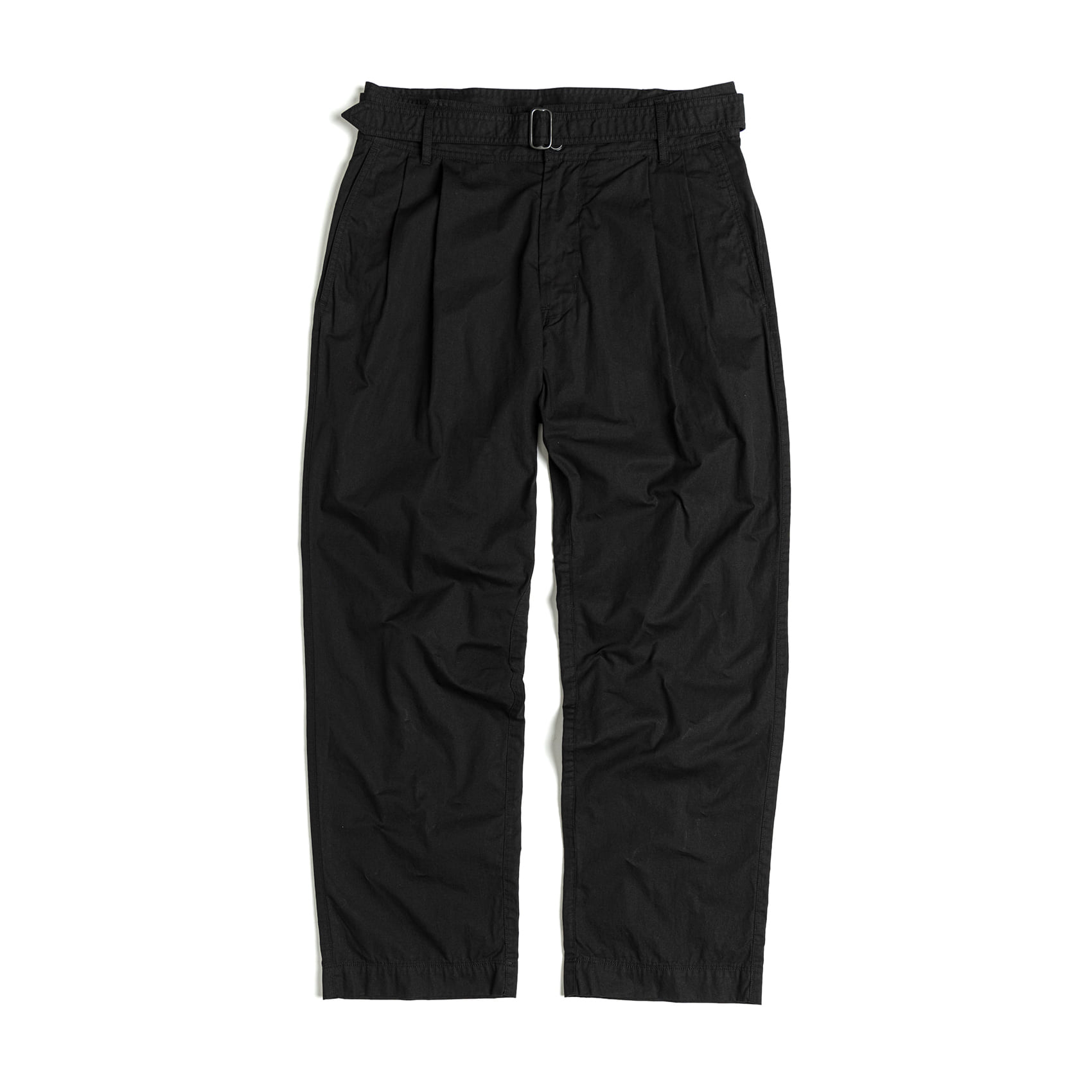 BELTED PANTS - BLACK