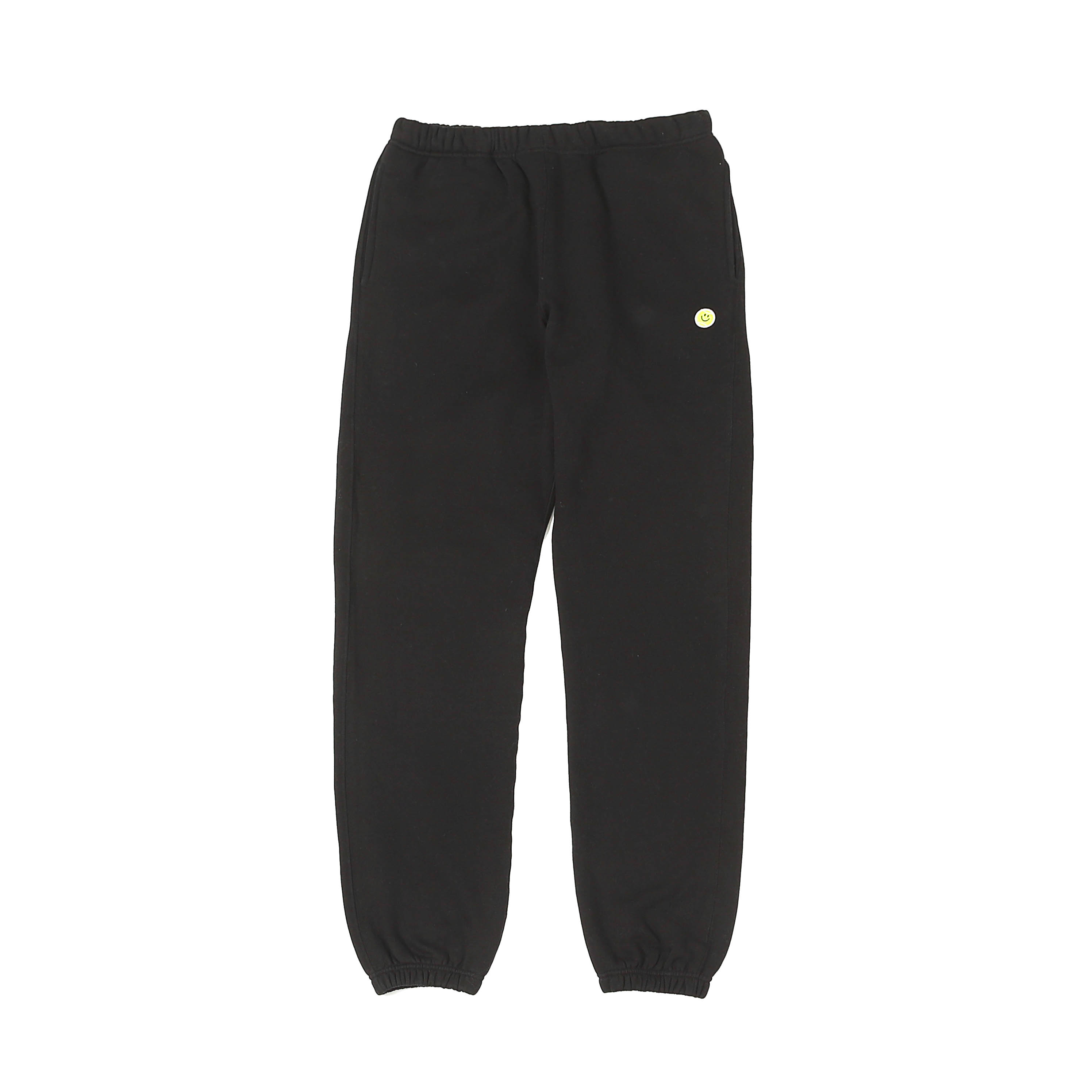SMILE BALL SWEAT PANTS - BLACK