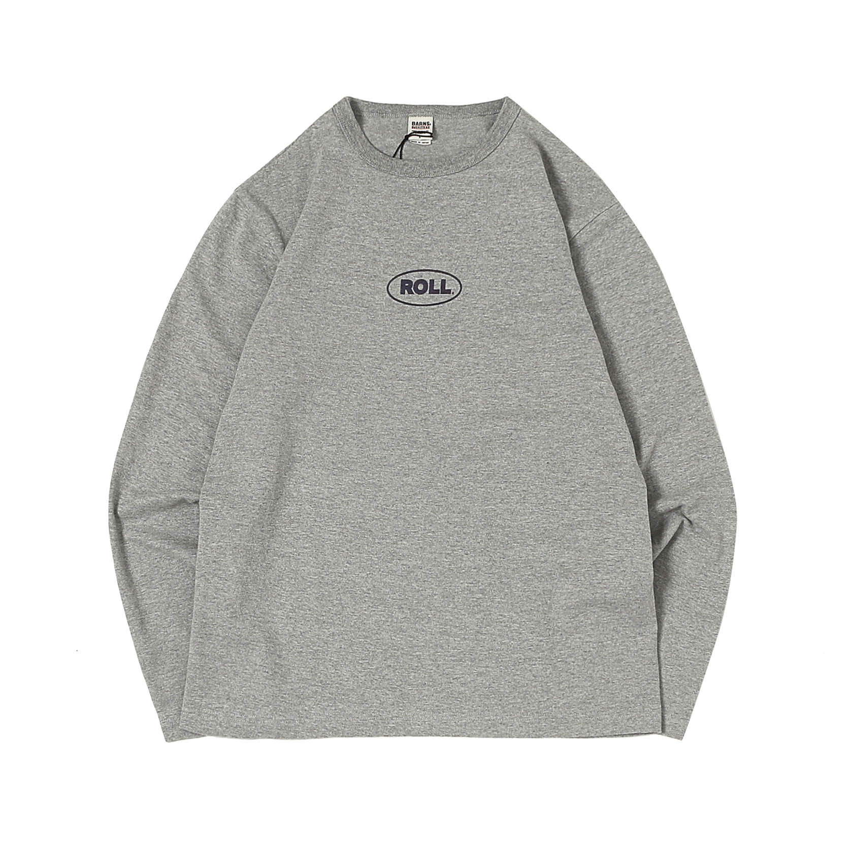 L/S PRINTED TEE - MINI ROLL GREY