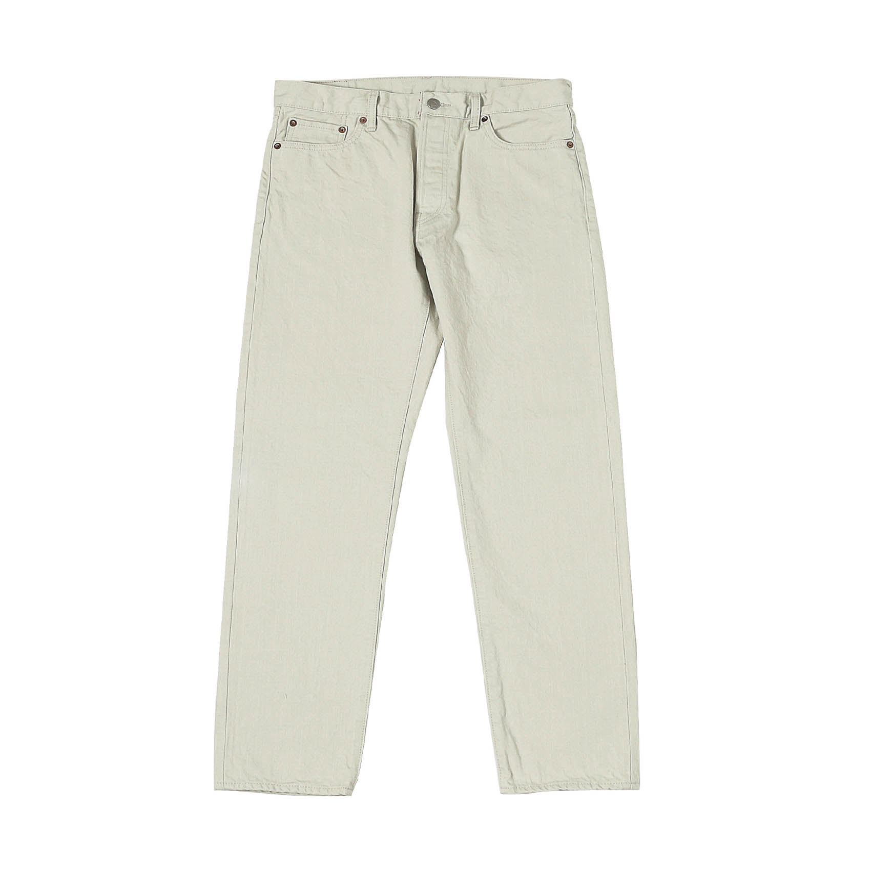 5 POCKET ROLL UP DENIM PANTS - WHITE