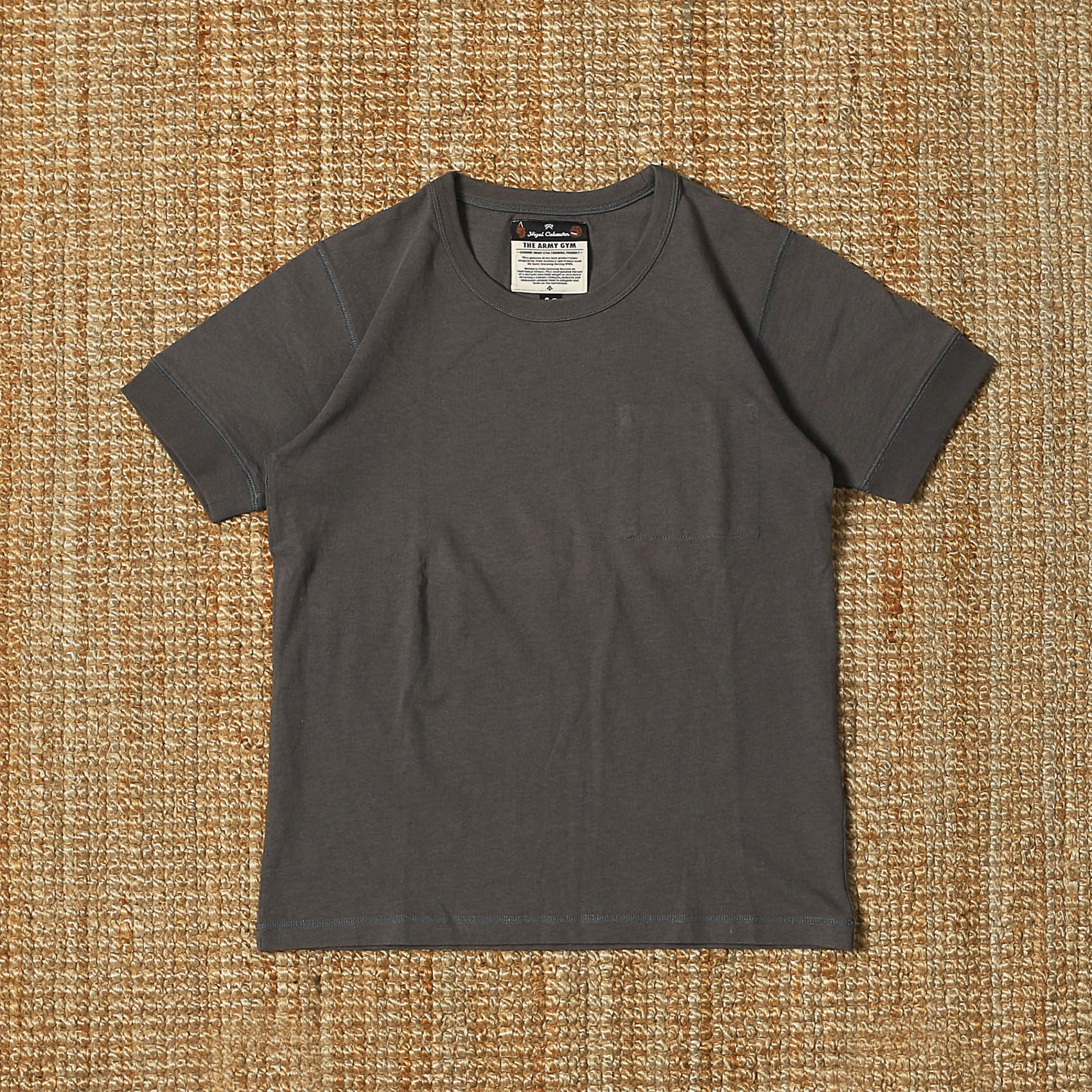 NIGEL CABOURN S/S INNER POCKET TEE - GREY