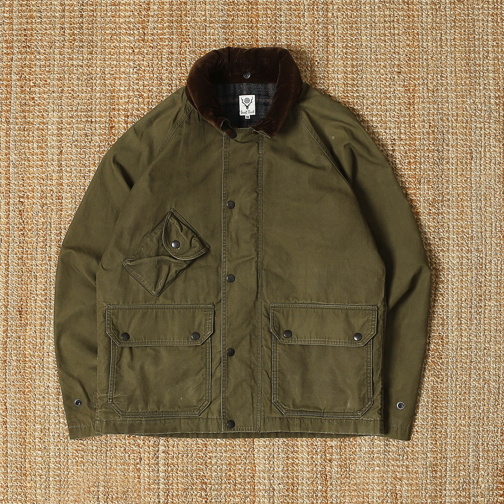 SOUTH2 WEST8 WAX JACKET - OLIVE