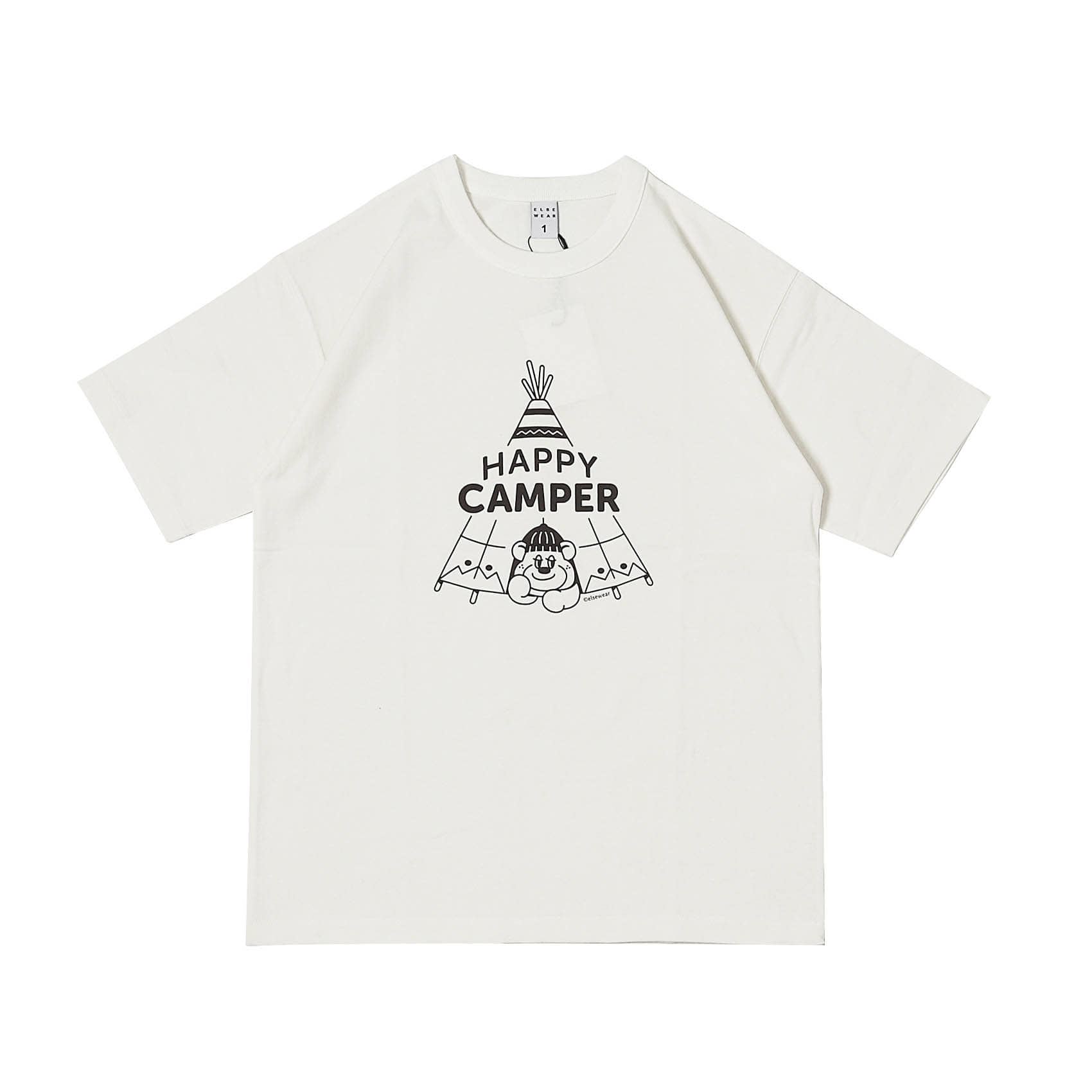 S/S PRINTED TEE - HAPPY CAMPER
