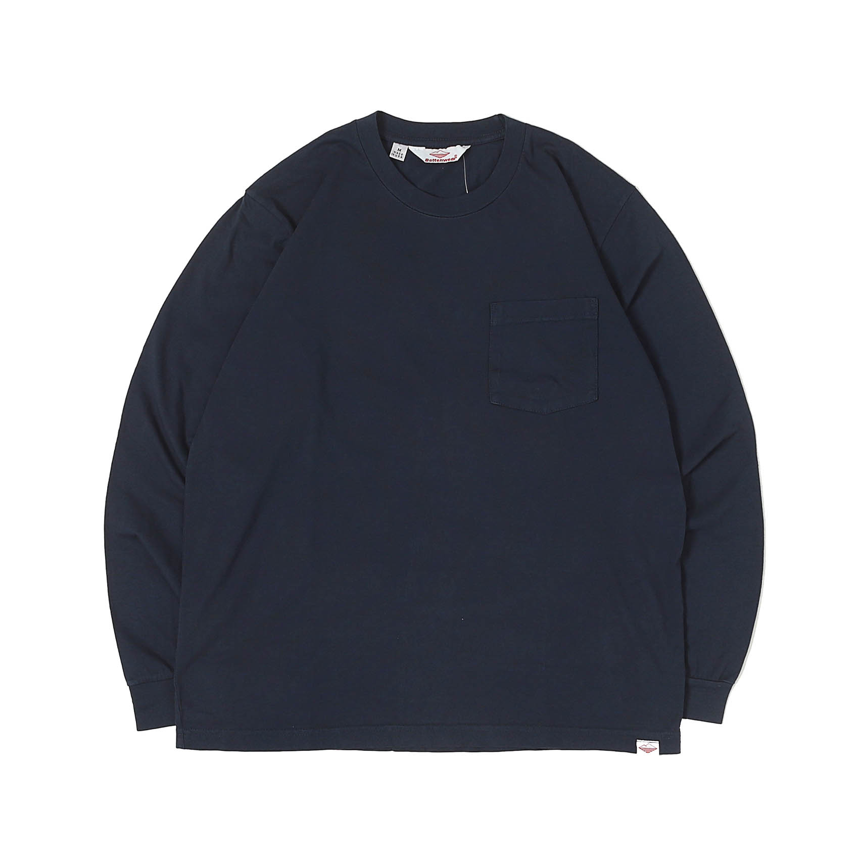 L/S POCKET TEE - NAVY
