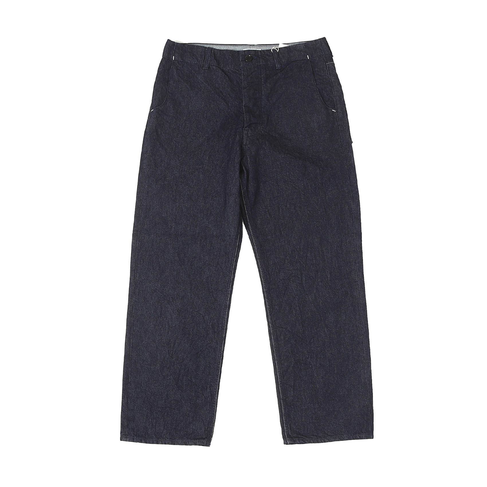 CINCHED DENIM PANTS - INDIGO