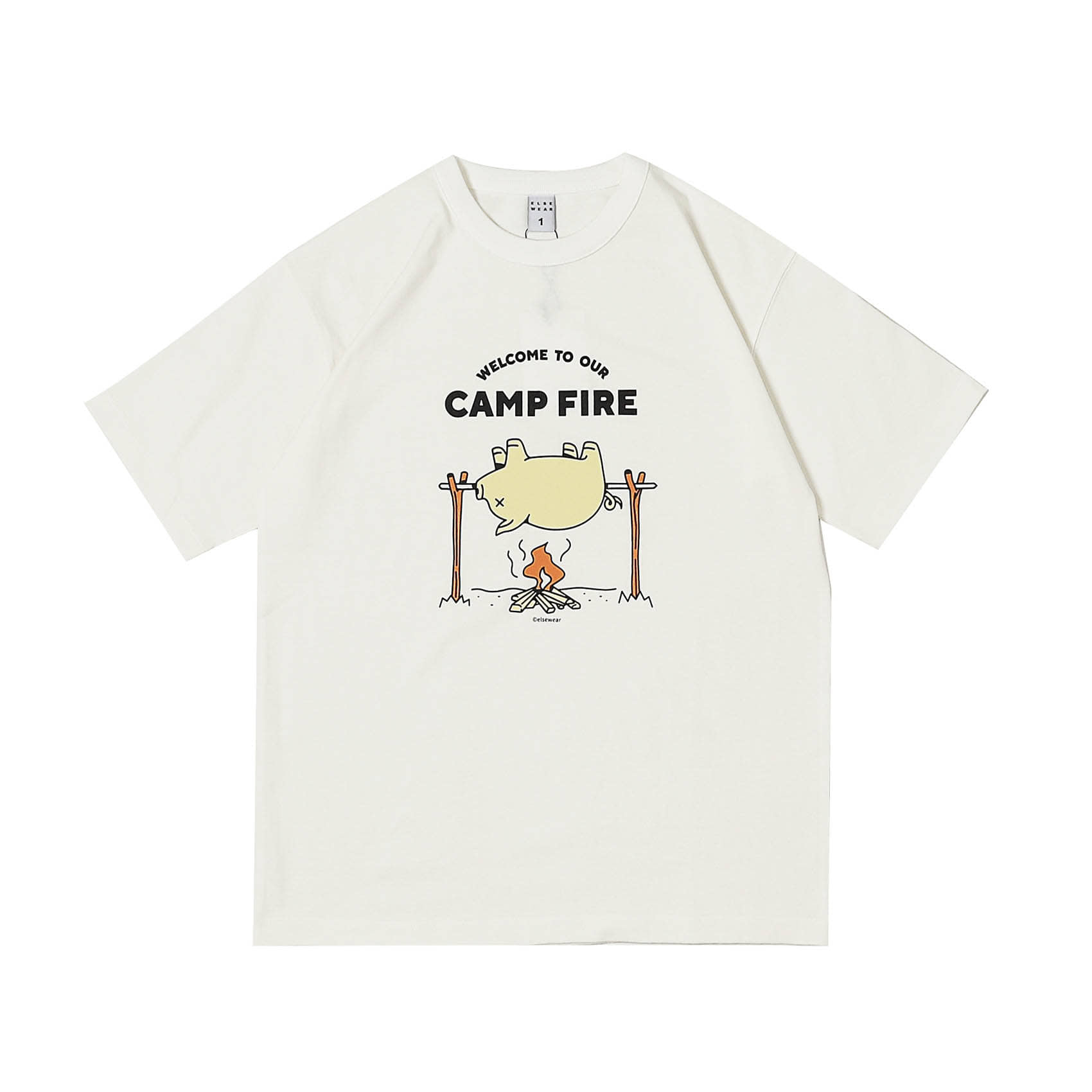 S/S PRINTED TEE - CAMP FIRE