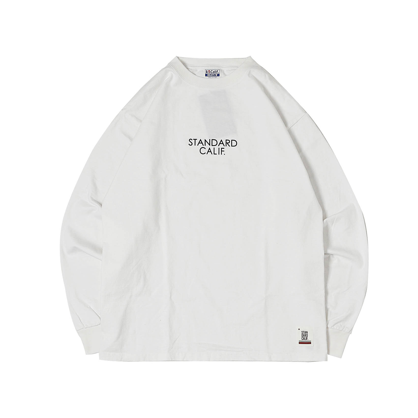 HEAVYWEIGHT LOGO L/S - WHITE