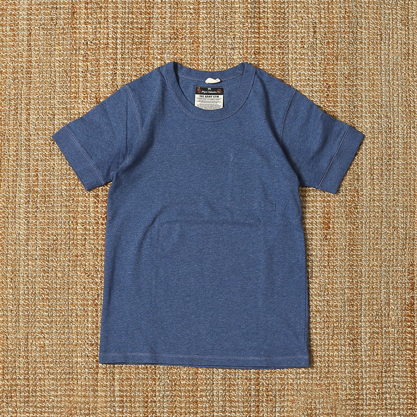 NIGEL CABOURN S/S INNER POCKET TEE - BLUE