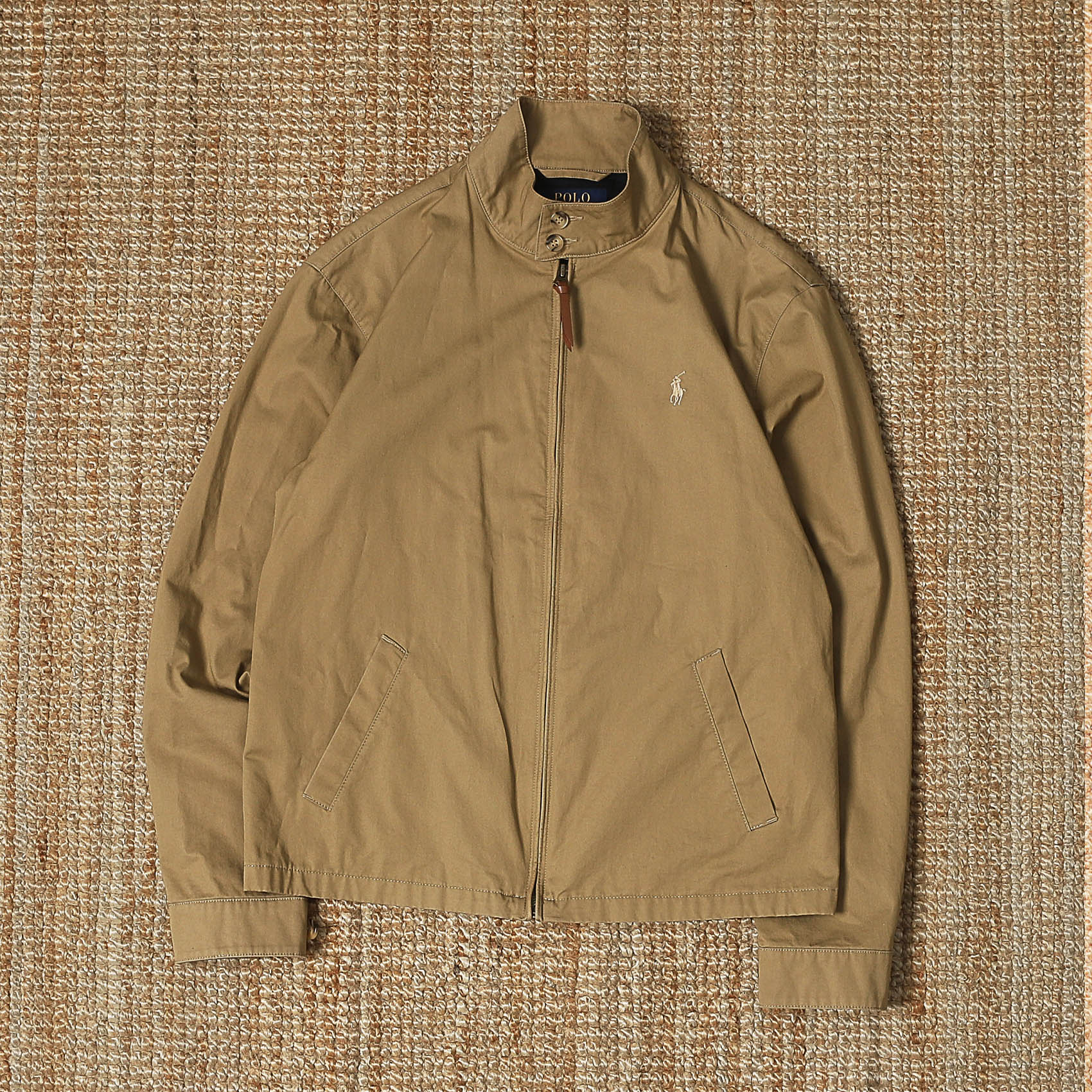 POLO RALPH LAUREN HARRINGTON JACKET - BEIGE
